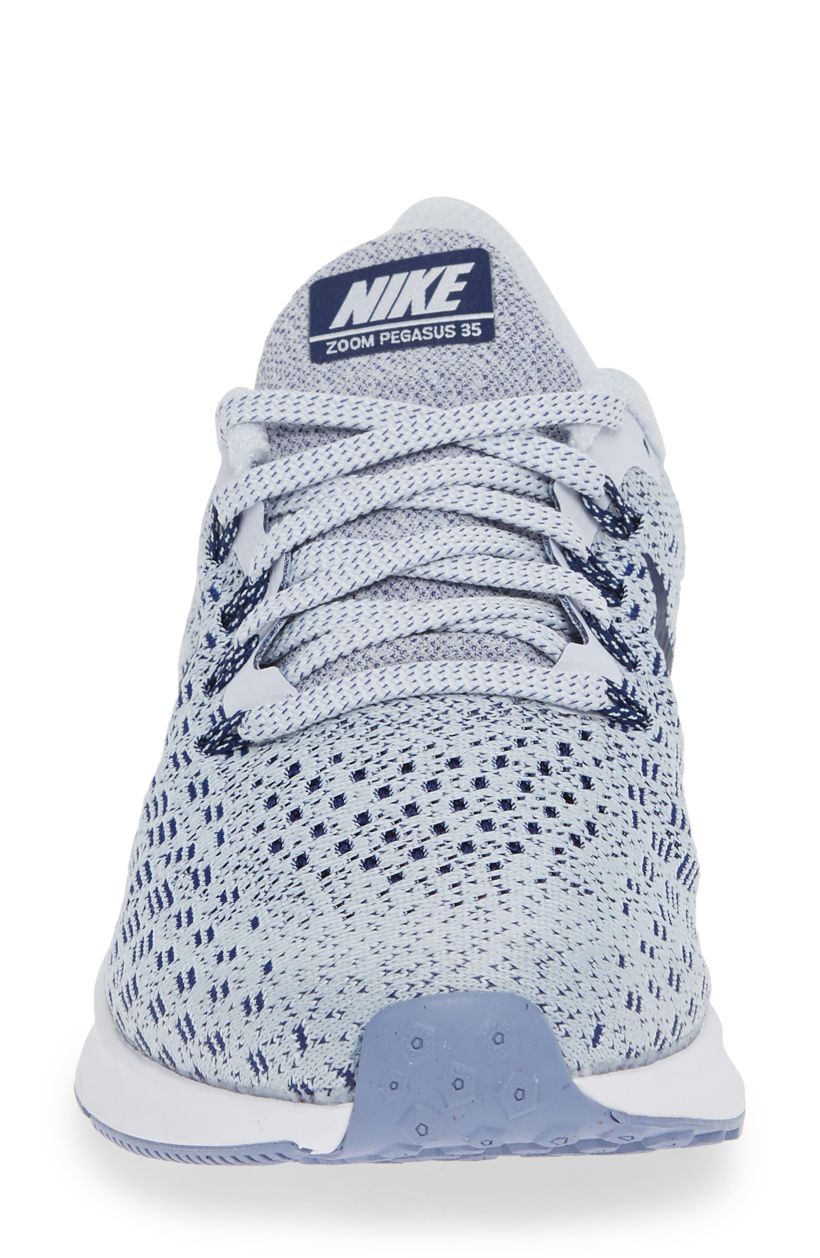 Air Zoom Pegasus 35 Running Shoe,                             Alternate thumbnail 4, color,                             GREY/ BLUE/ WHITE/ ALUMINUM