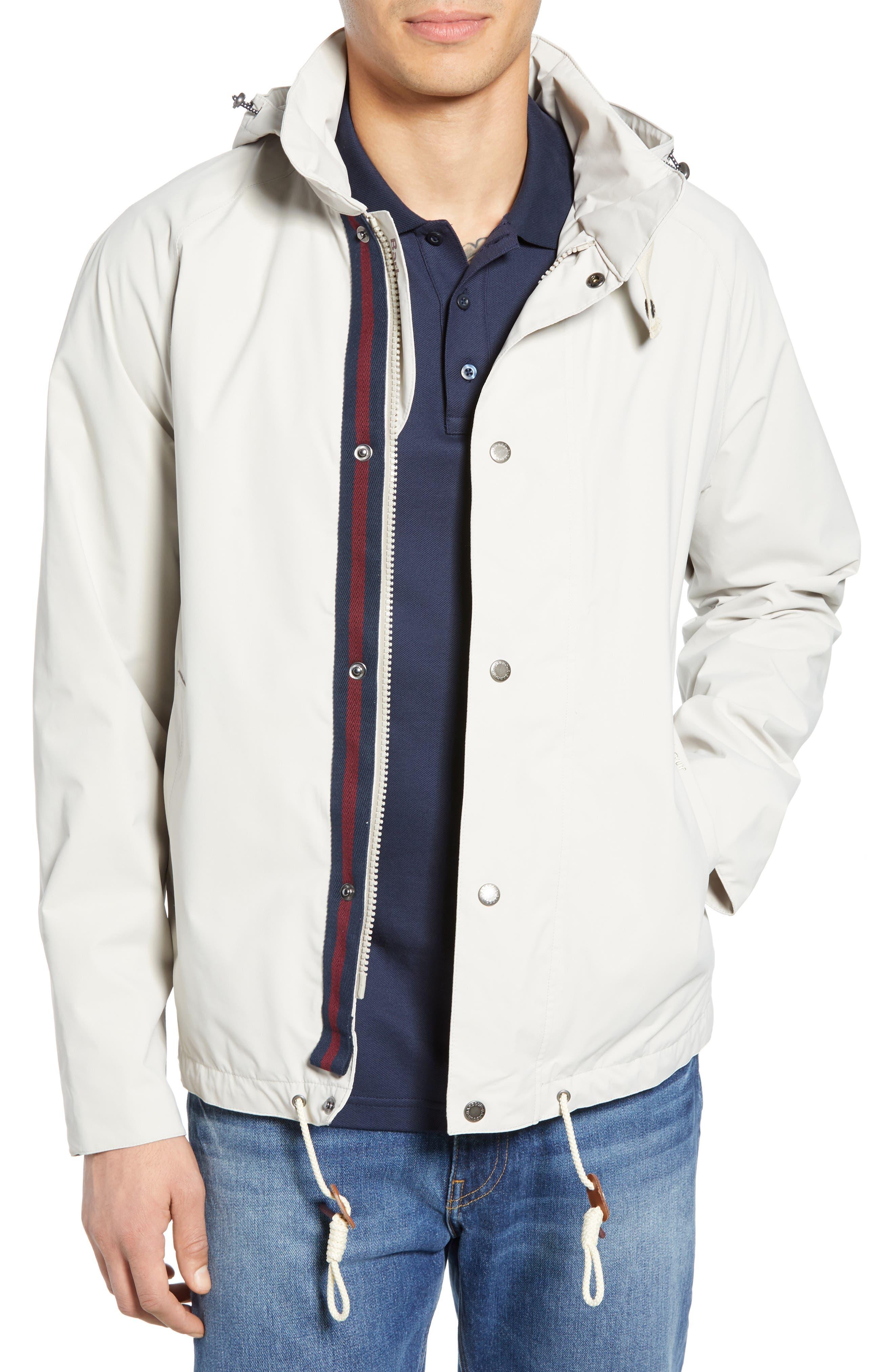 Barbour Clanfield Waterproof Hooded Jacket, White