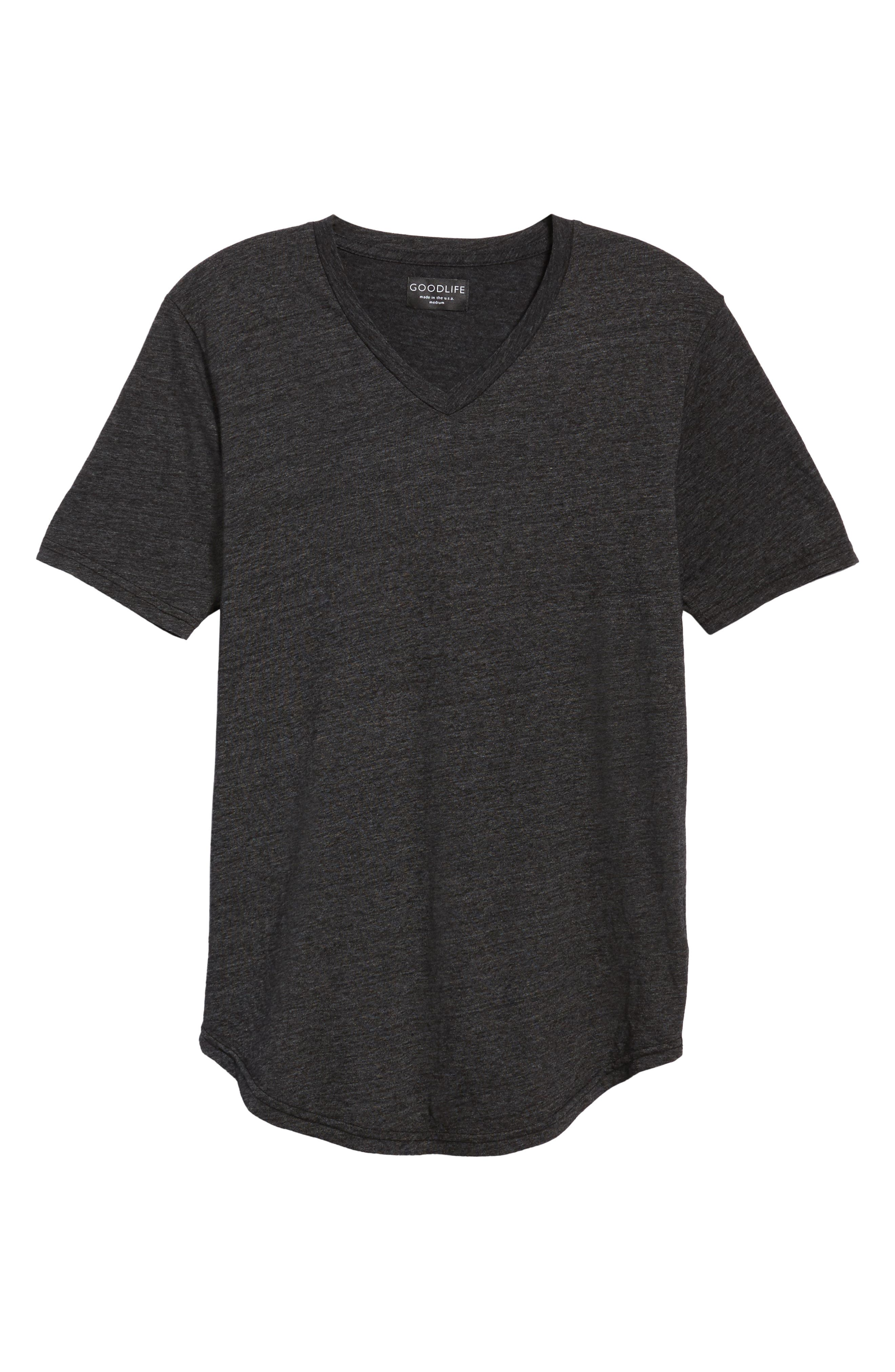 Scallop Triblend V-Neck T-Shirt,                             Alternate thumbnail 39, color,