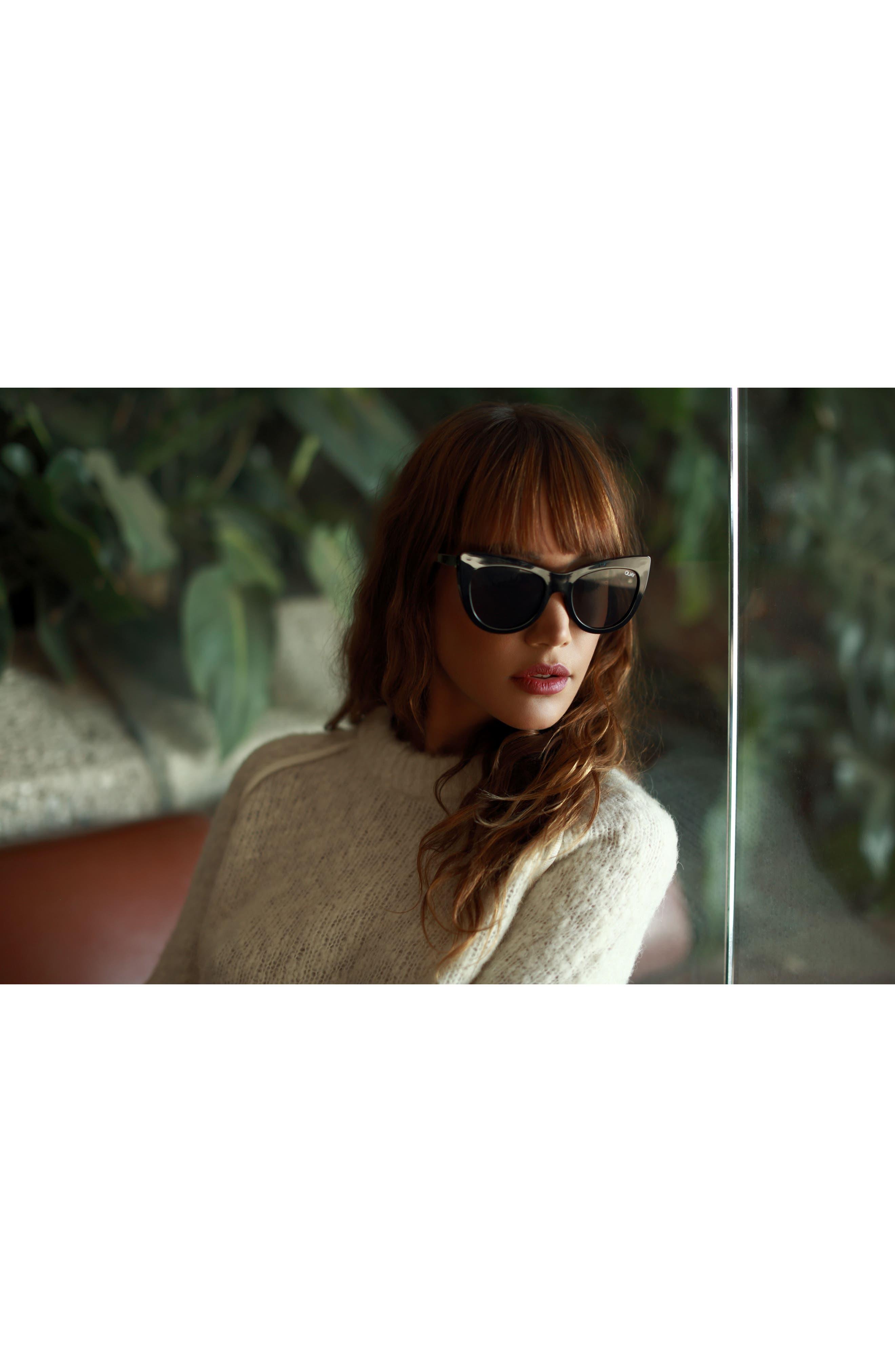 53mm Steal a Kiss Cat-eye Sunglasses,                             Alternate thumbnail 7, color,                             001