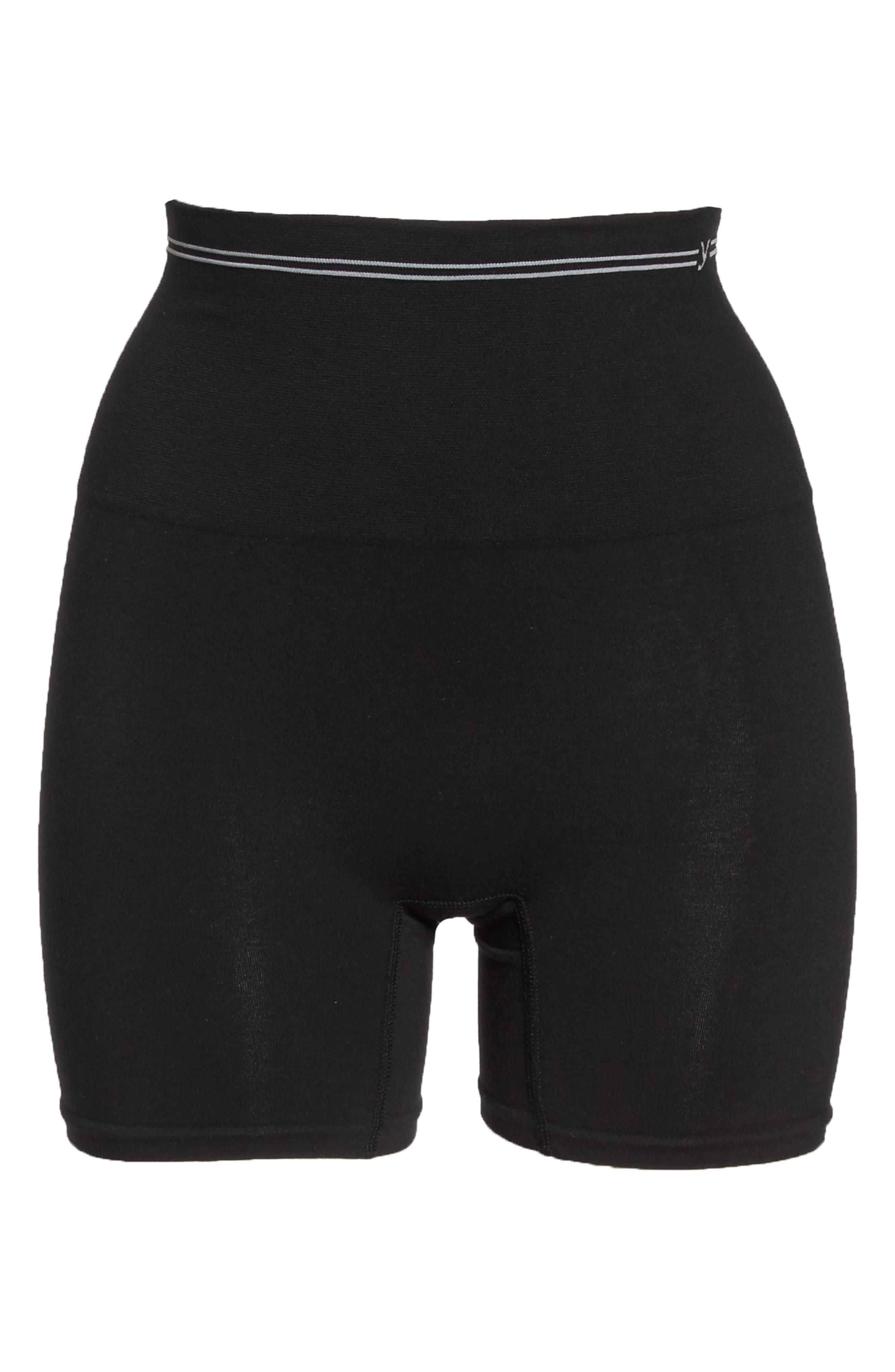YUMMIE,                             Seamless Shaping Shorts,                             Alternate thumbnail 6, color,                             001