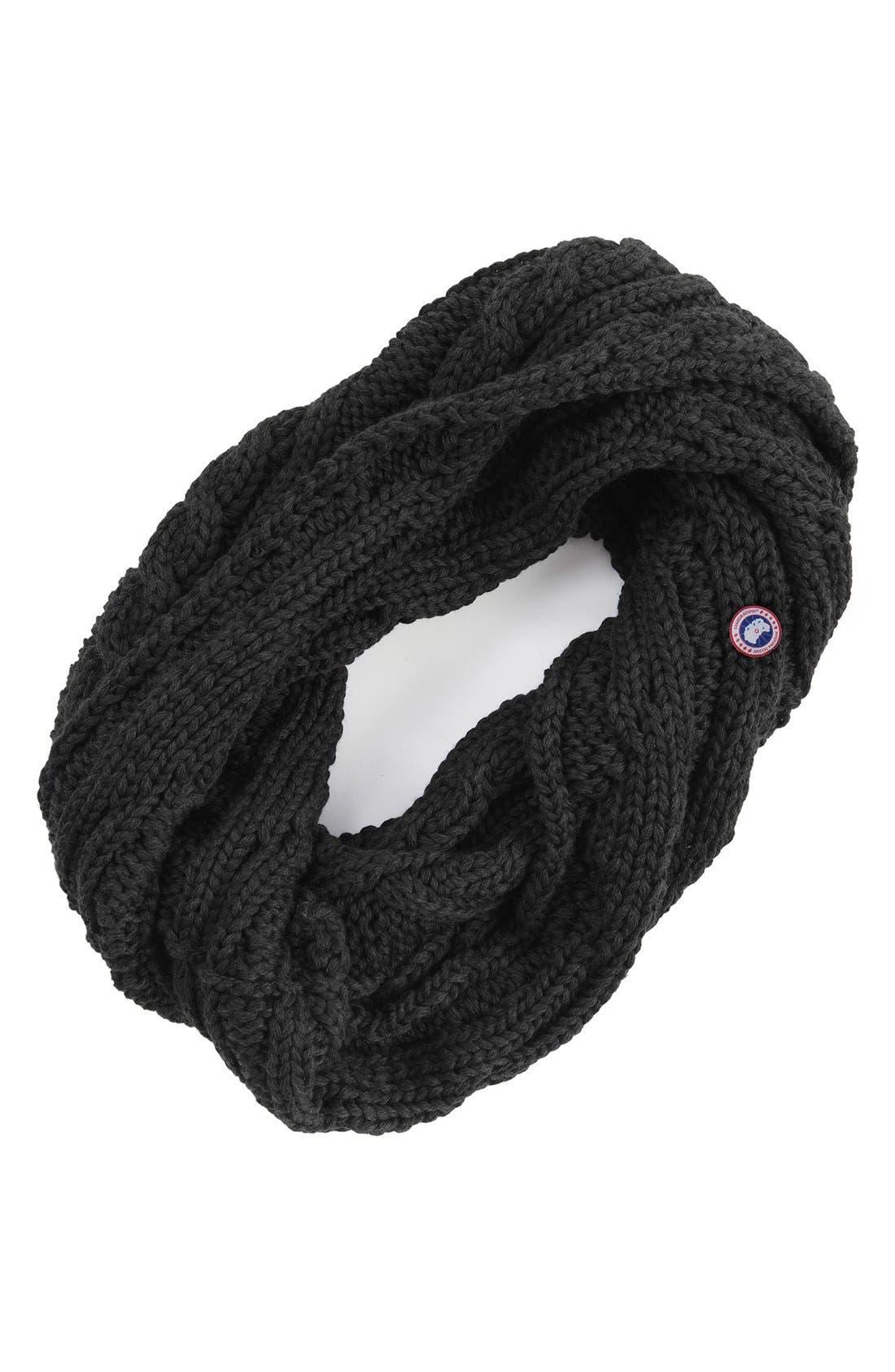 Chunky Cable Wool Snood,                             Main thumbnail 1, color,