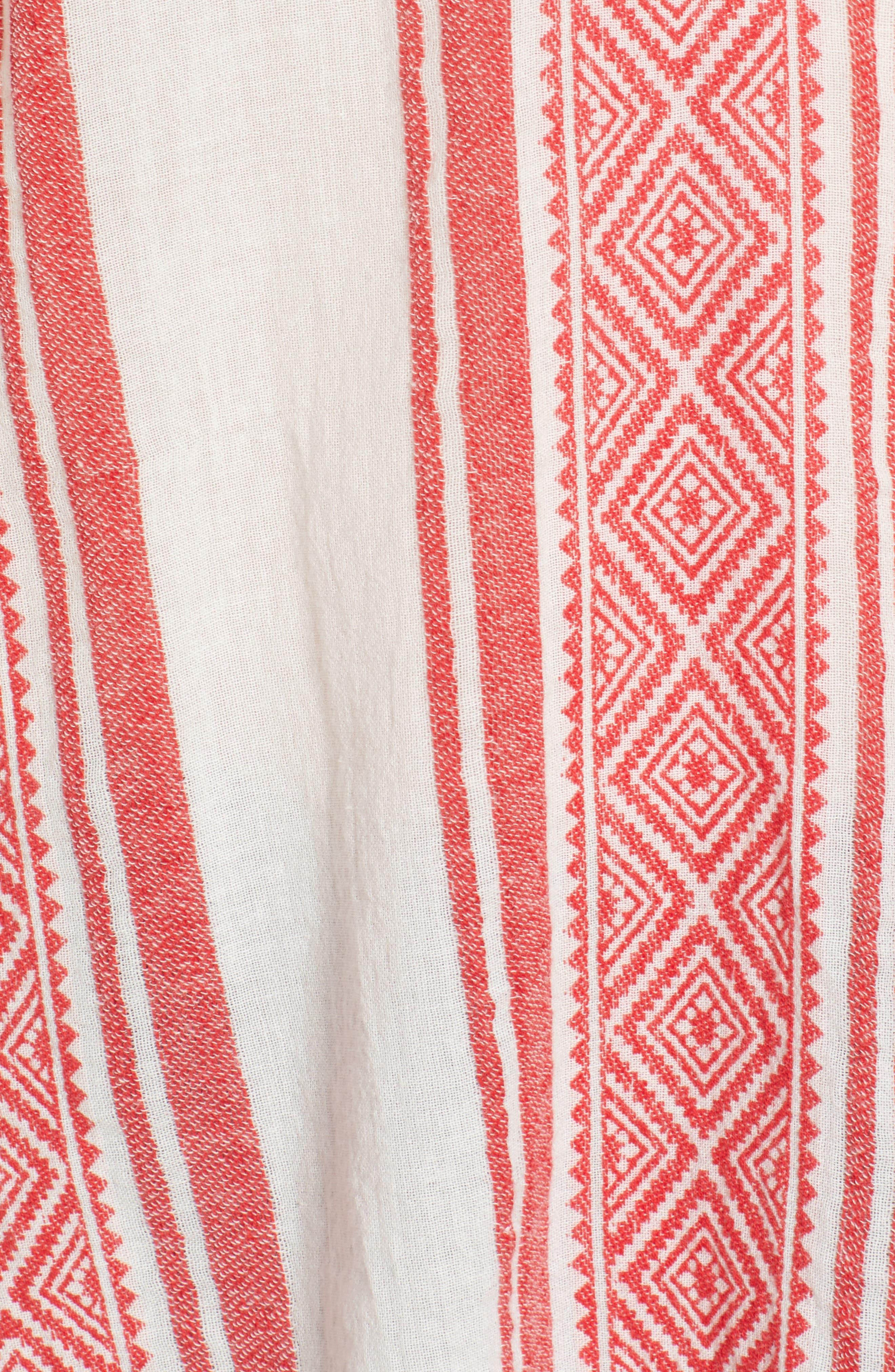Jacquard Stripe Peasant Blouse,                             Alternate thumbnail 10, color,