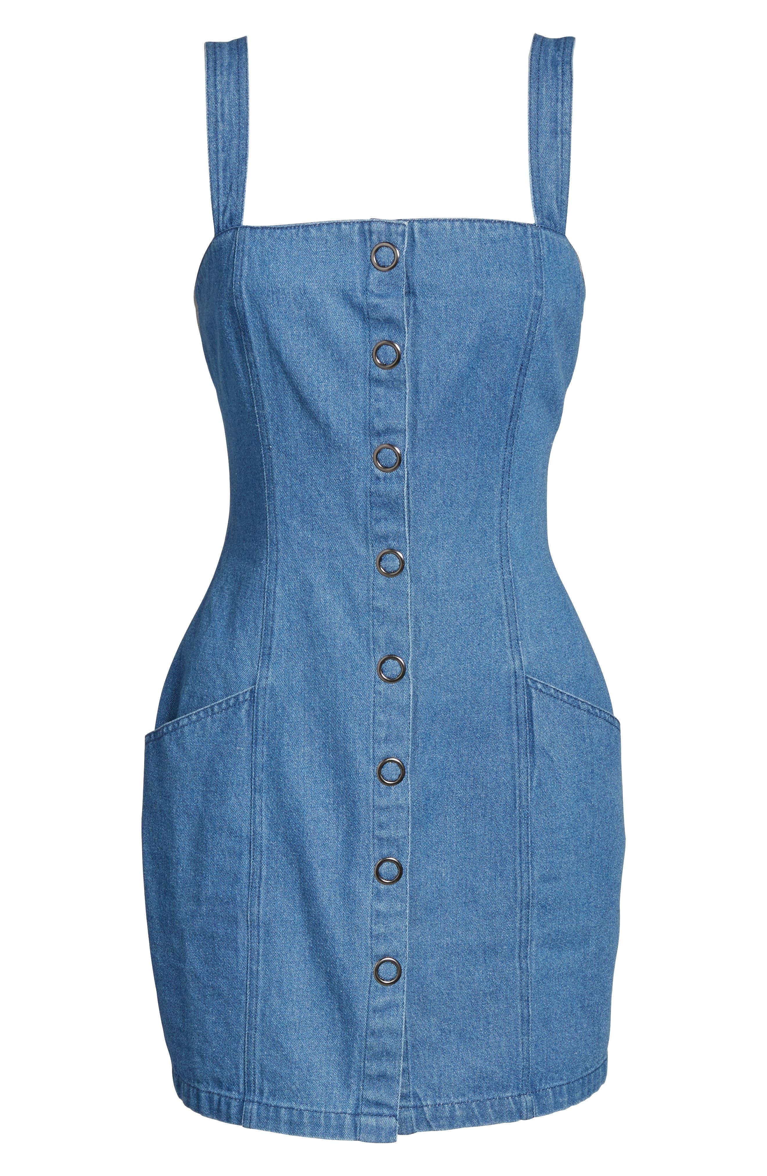 Vagabond Denim Dress,                             Alternate thumbnail 6, color,                             400