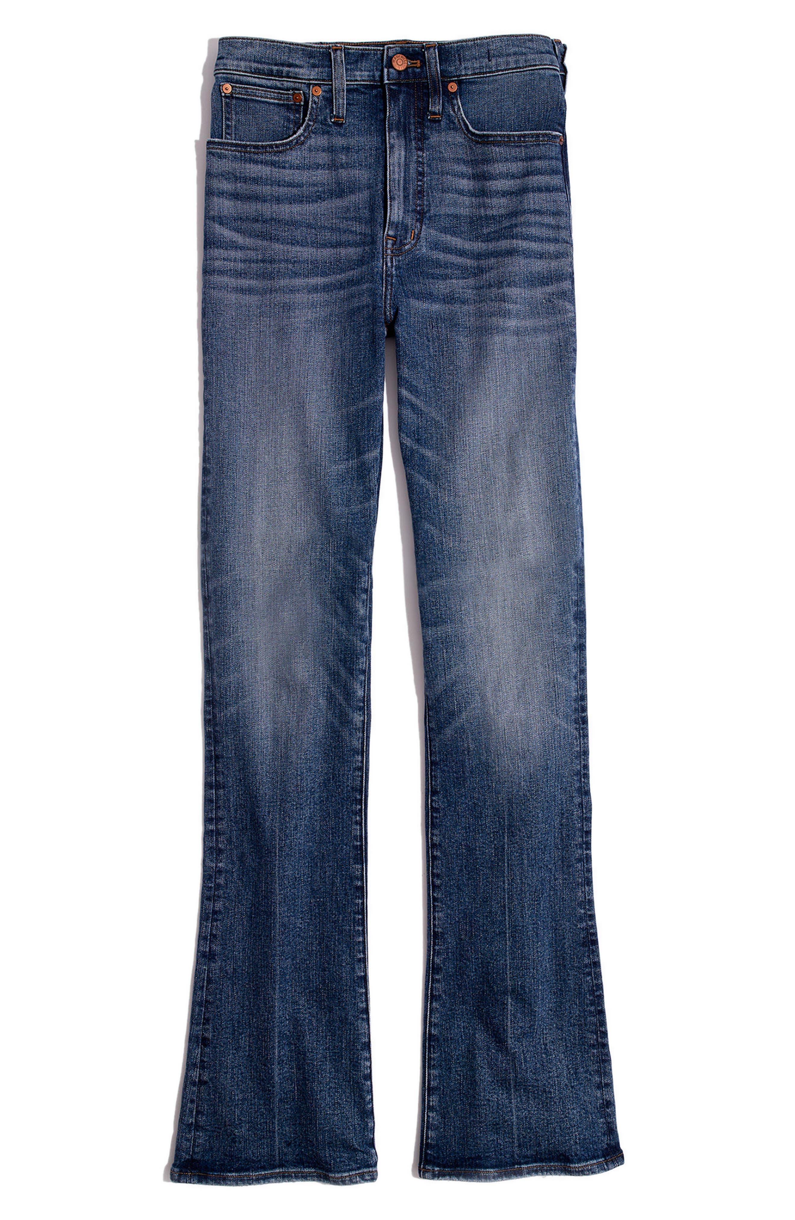 Skinny Flare Leg Jeans,                             Alternate thumbnail 4, color,                             400