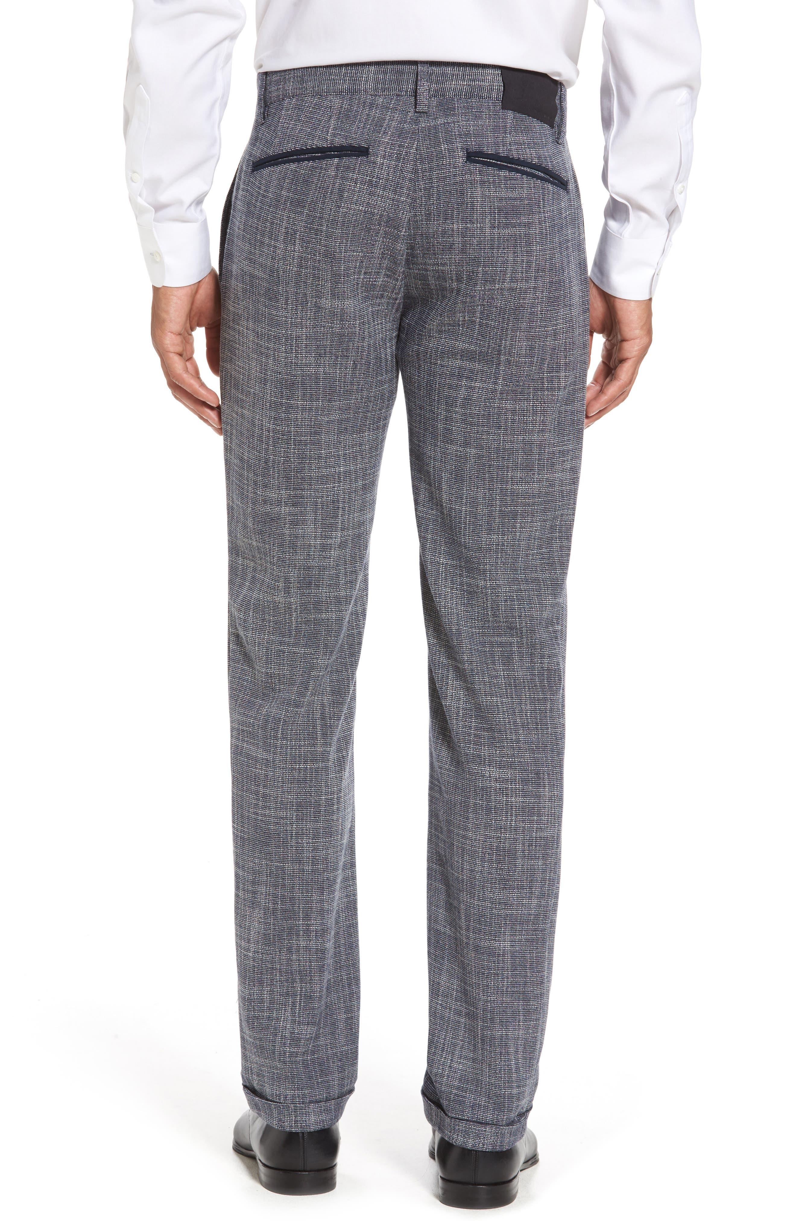 Slim Fit Cuffed Pants,                             Alternate thumbnail 3, color,                             410