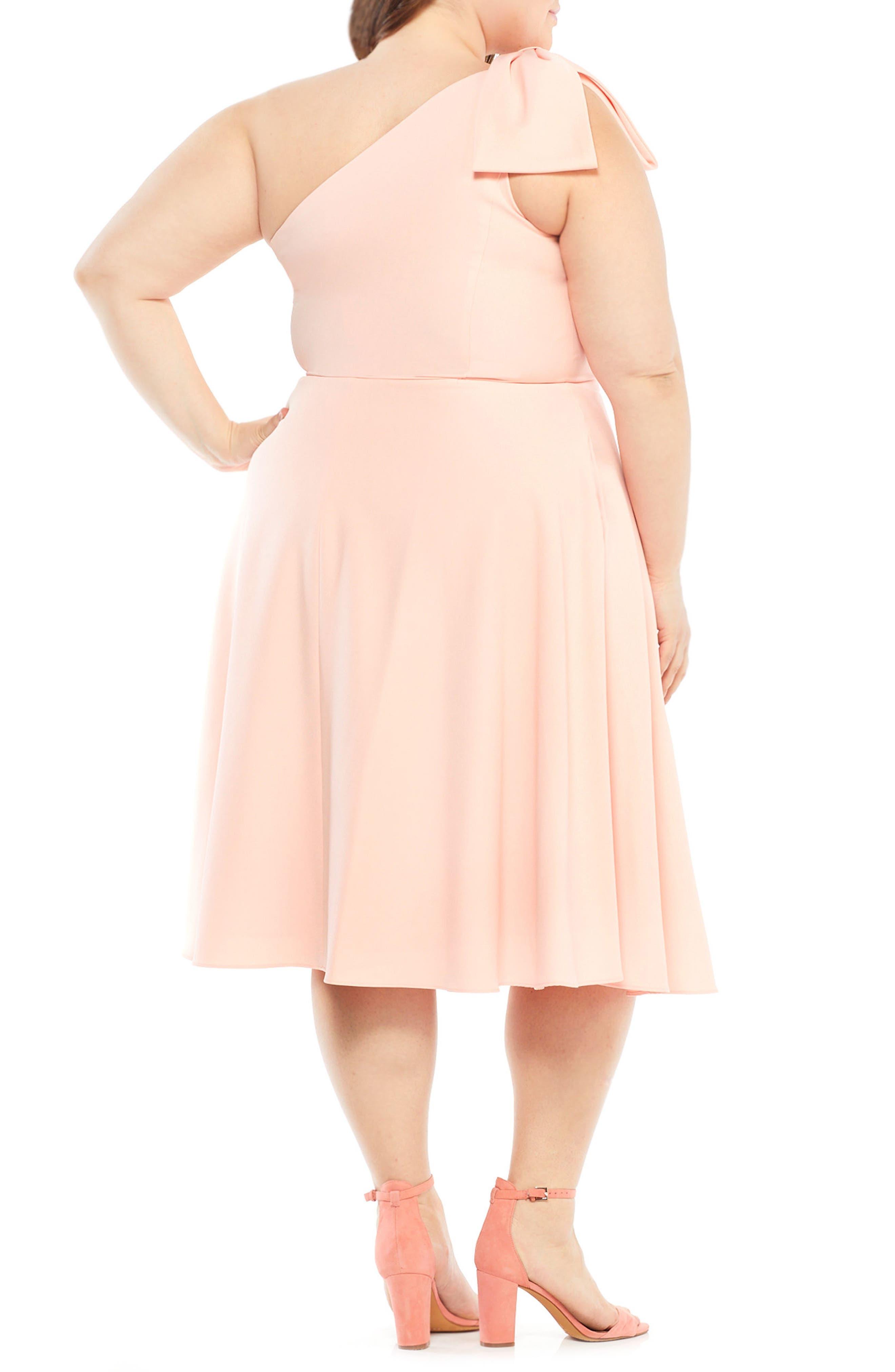 Yvonne Dream Crepe One-Shoulder Dress,                             Alternate thumbnail 17, color,