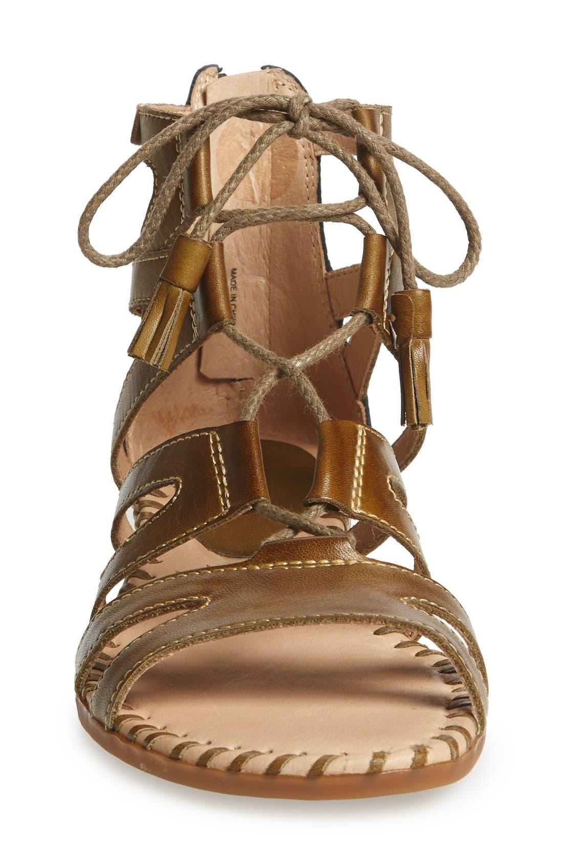 'Alcudia' Lace-Up Sandal,                             Alternate thumbnail 9, color,