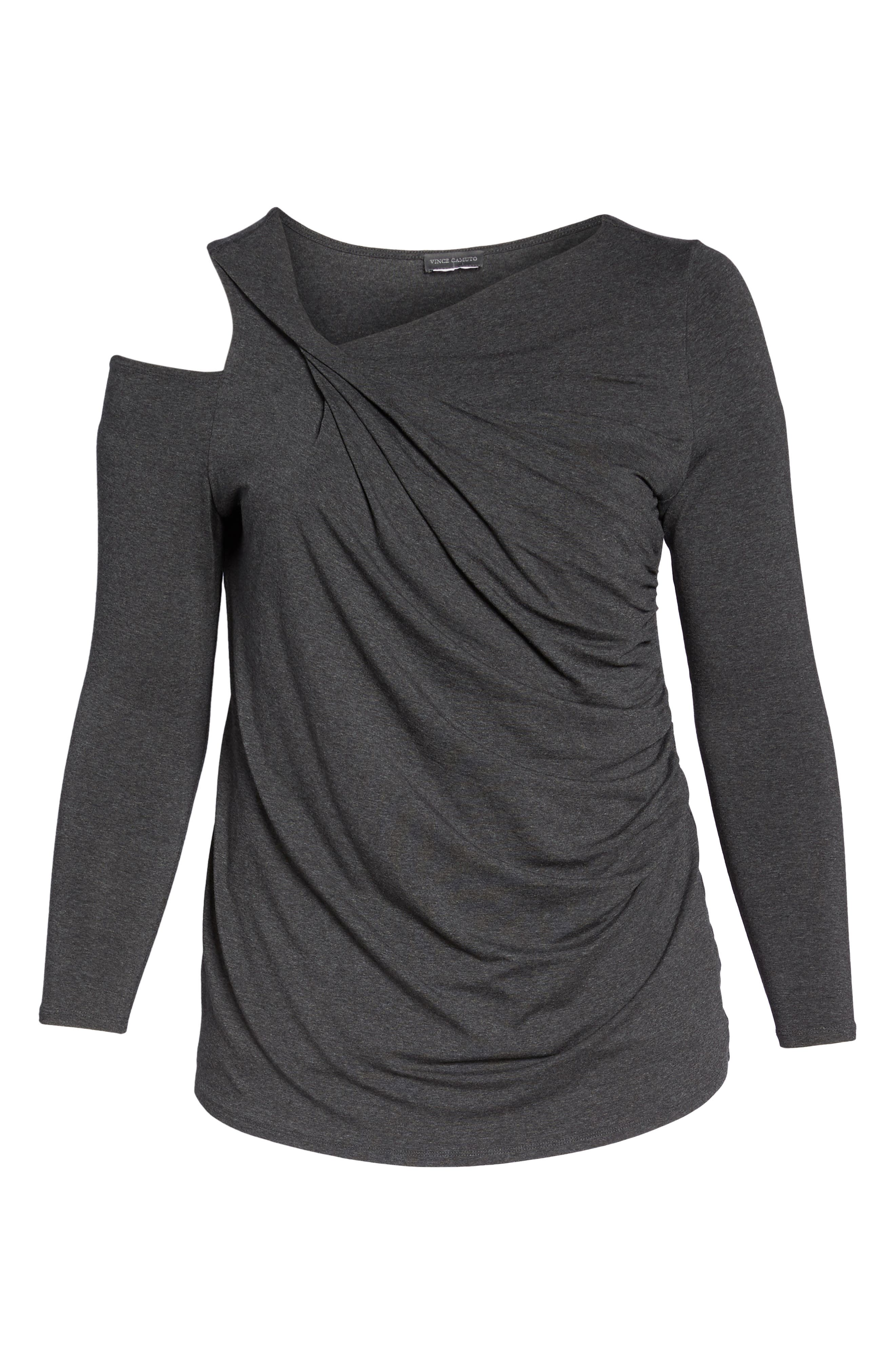 Twisted Cold Shoulder Top,                             Alternate thumbnail 6, color,                             023