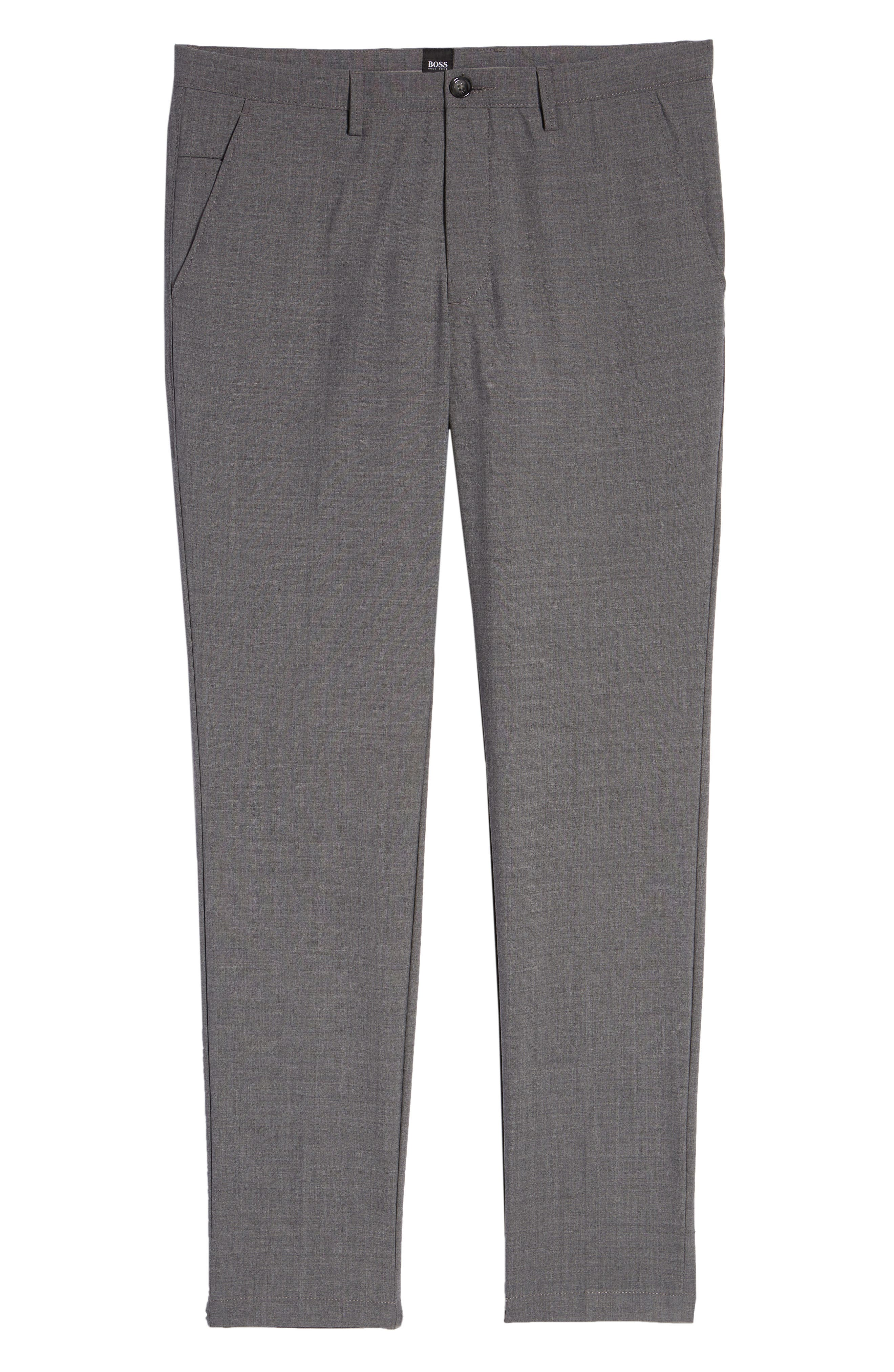 Kaito Slim Fit Wool Trousers,                             Alternate thumbnail 6, color,                             GREY