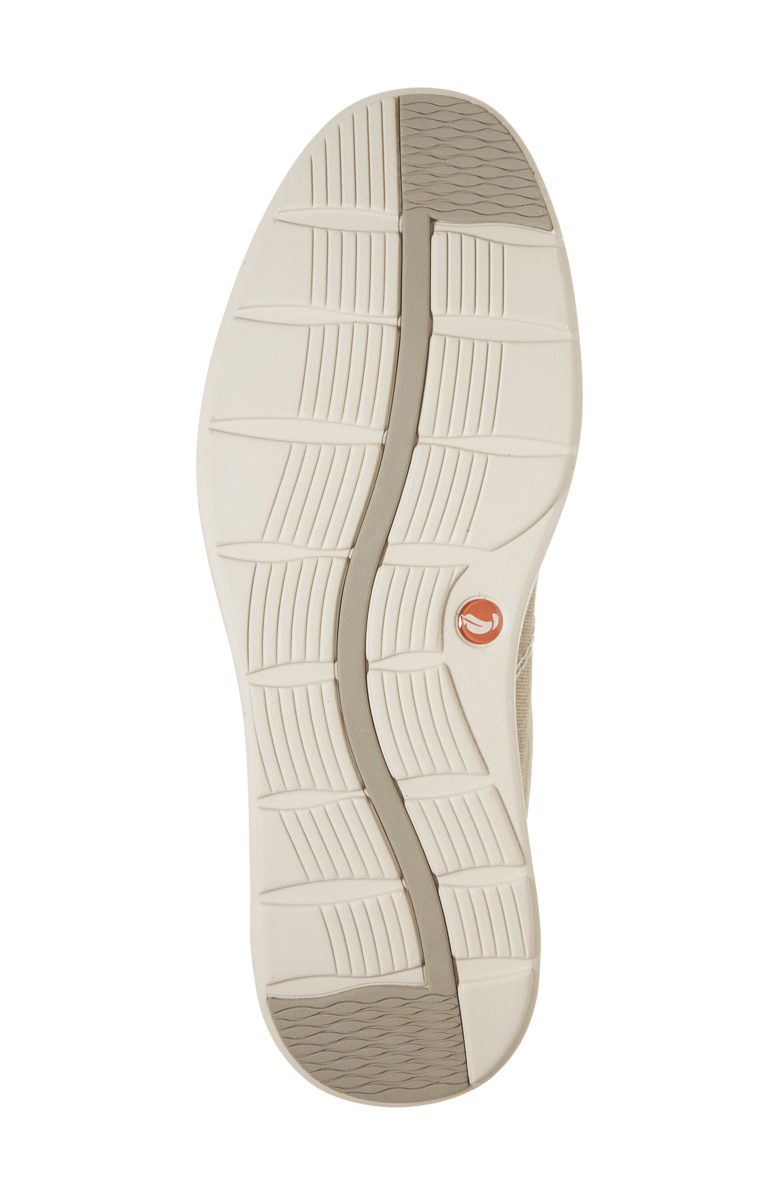Clarks<sup>®</sup> Unabode Form Sneaker,                             Alternate thumbnail 6, color,                             SAND FABRIC