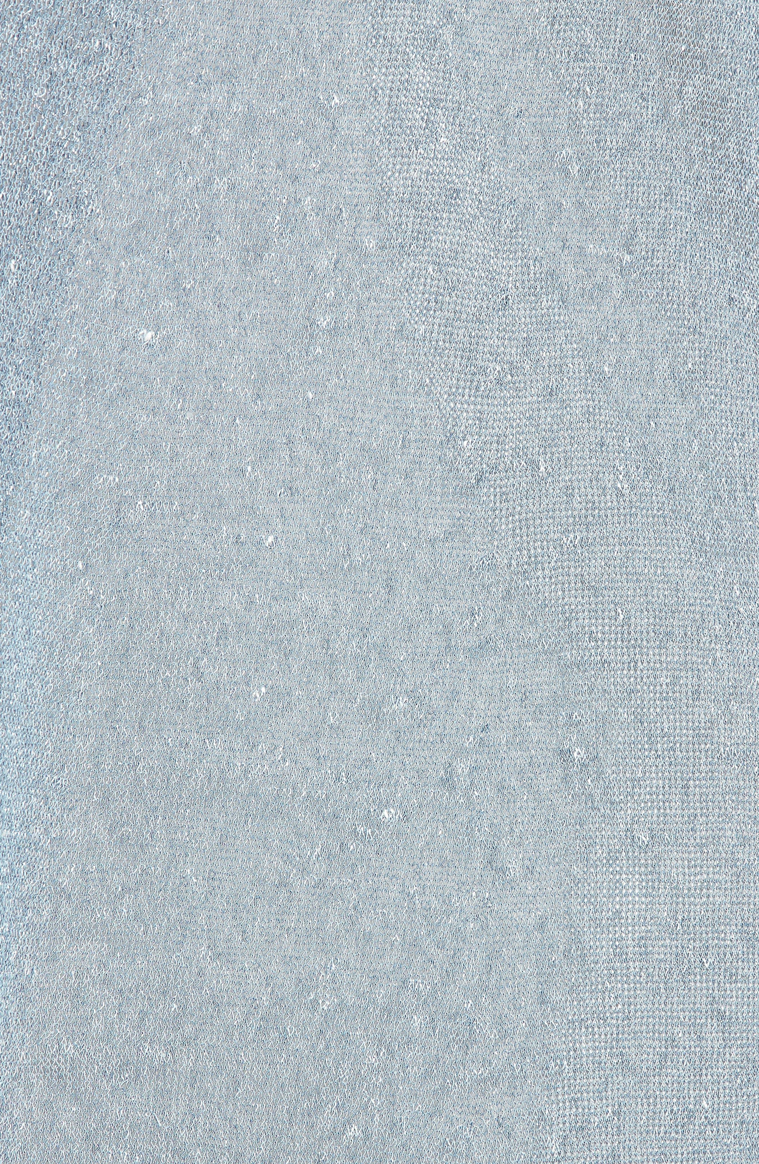 Long Organic Linen Blend Cardigan,                             Alternate thumbnail 6, color,                             454