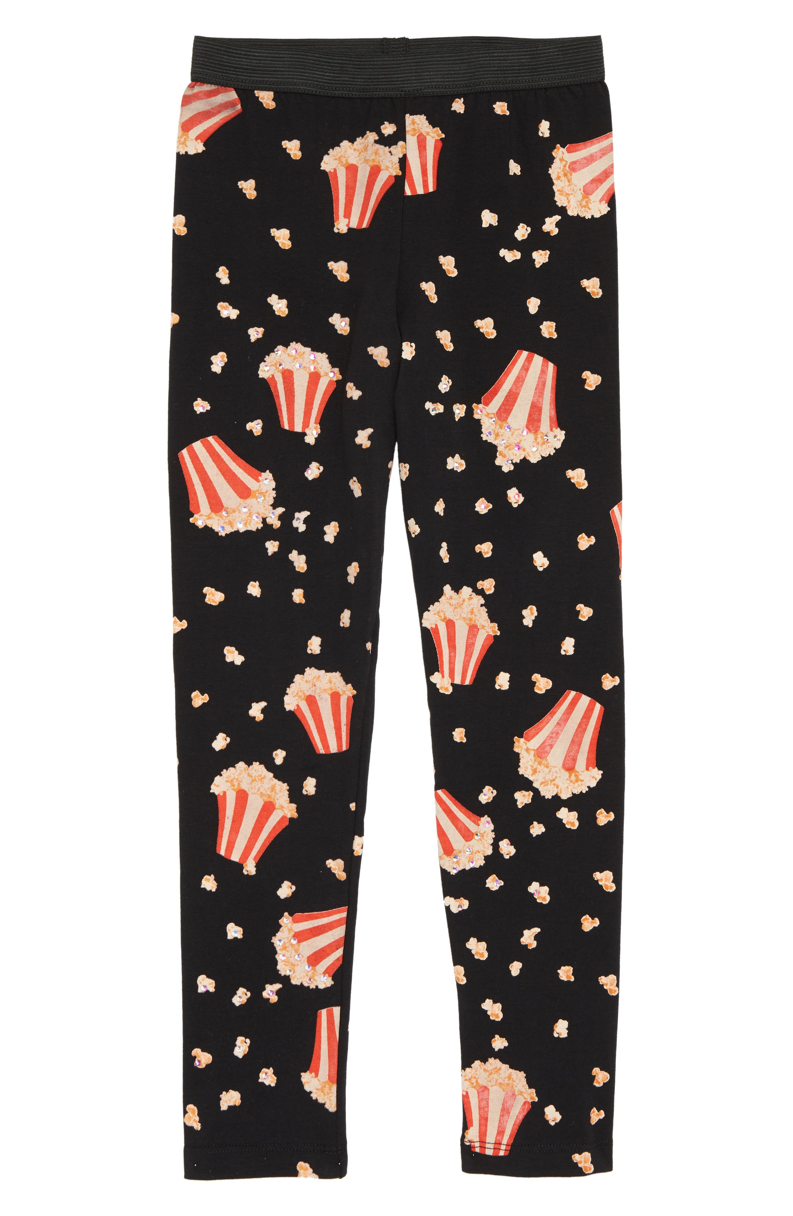 Popcorn Print Leggings,                         Main,                         color, 001