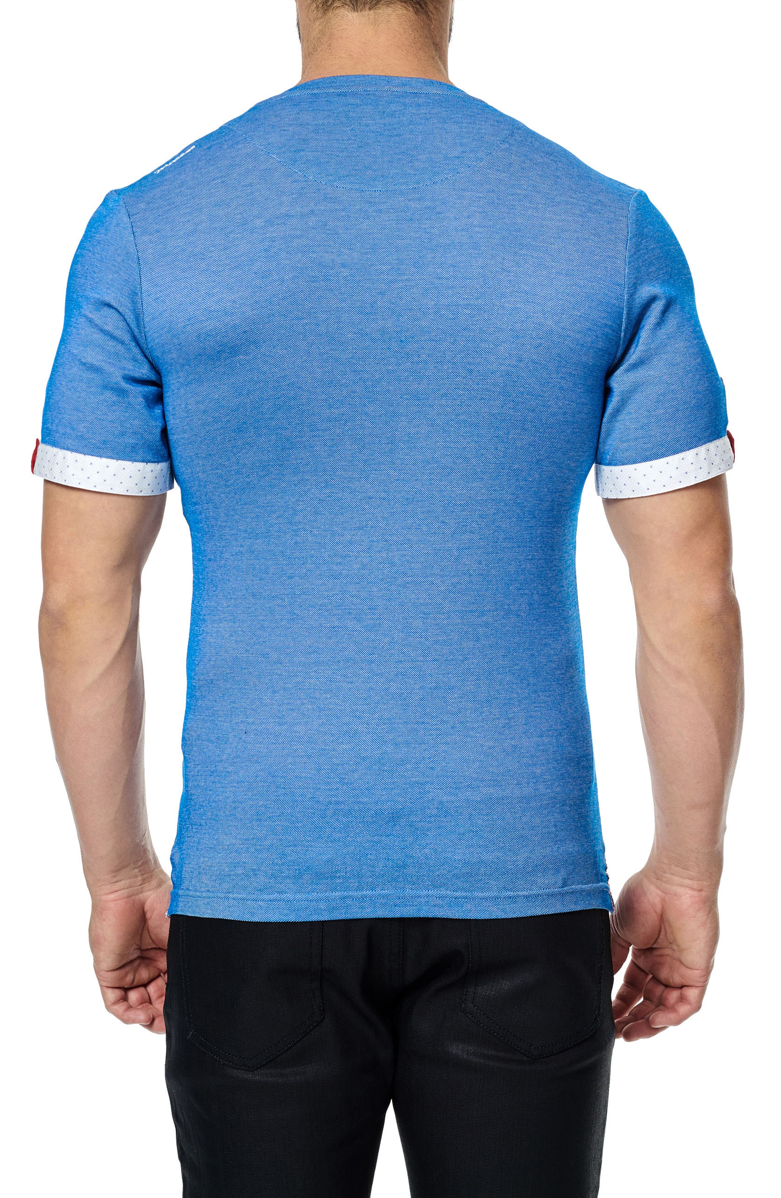 MACEOO,                             V-Neck Stretch T-Shirt,                             Alternate thumbnail 2, color,                             420