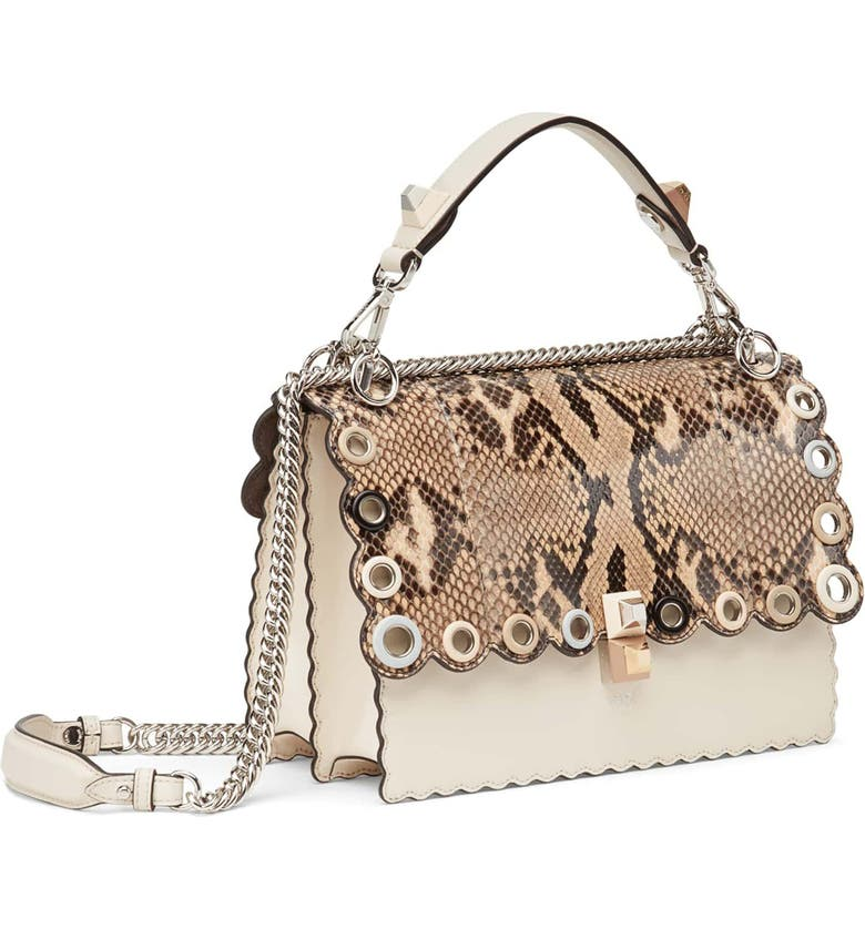 4e5aea4436 Fendi Small Kan I Genuine Python   Calfskin Shoulder Bag