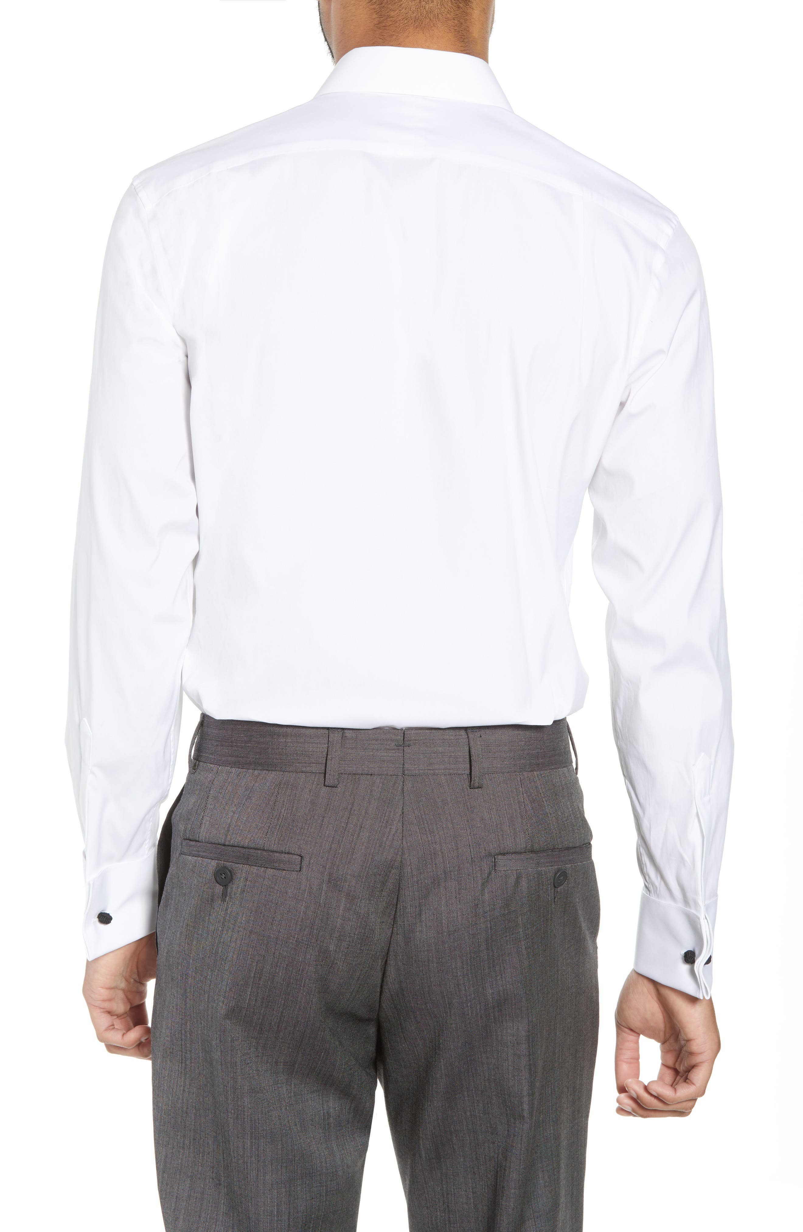 Capstone Stretch Slim Fit Tuxedo Shirt,                             Alternate thumbnail 3, color,                             WHITE