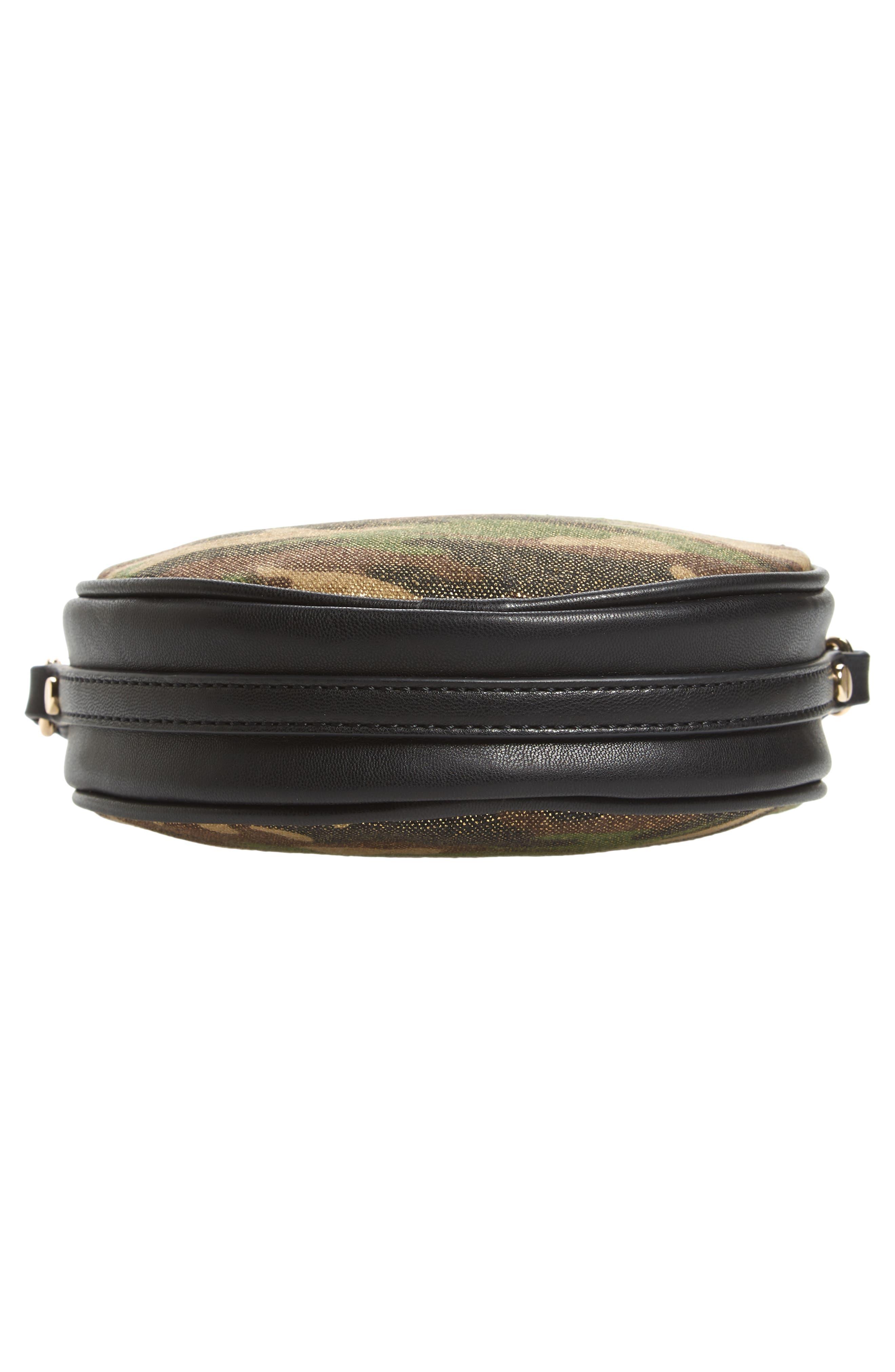Mali + Lili Camouflage Vegan Leather Canteen Crossbody Bag,                             Alternate thumbnail 6, color,                             340