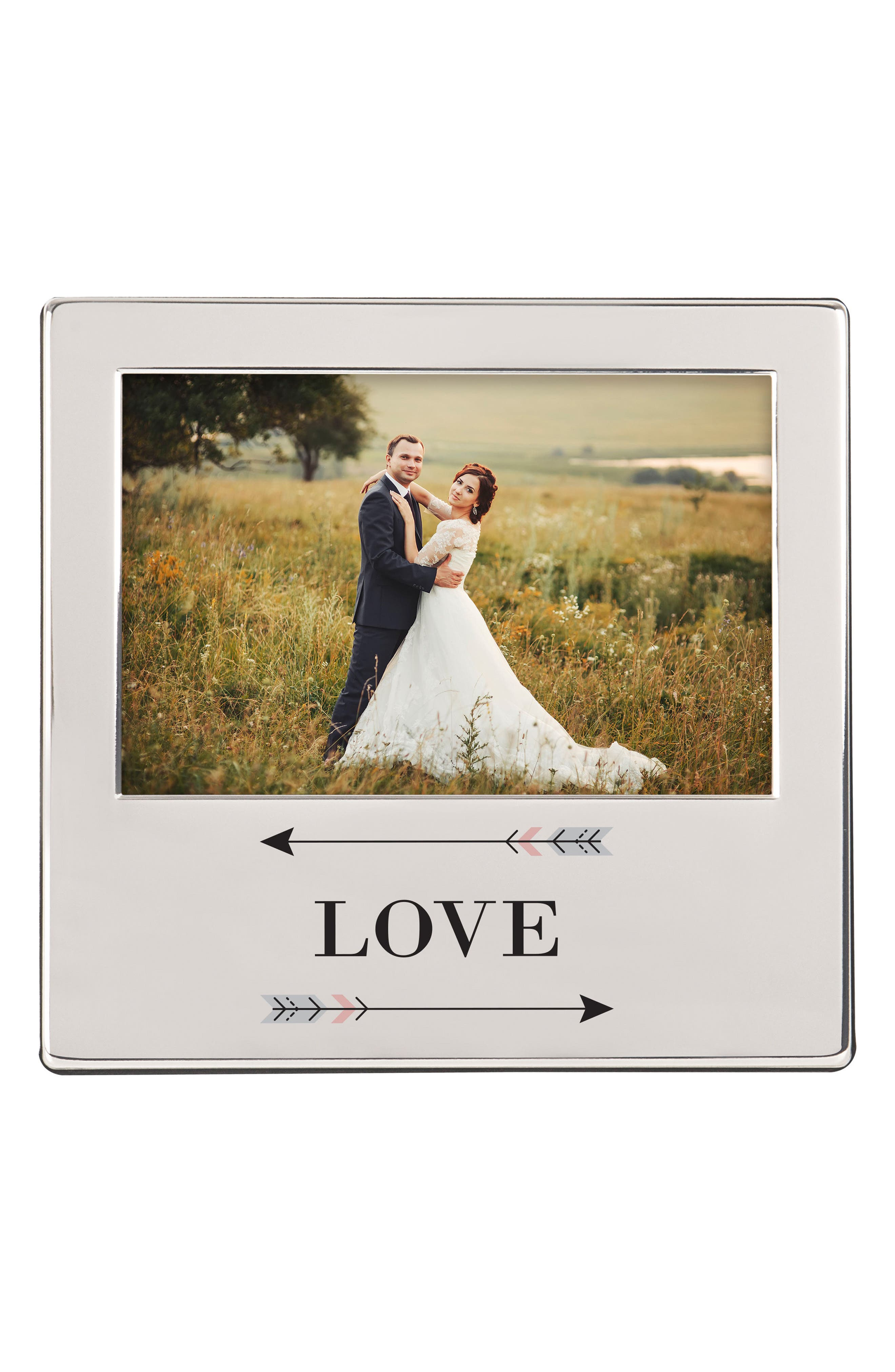 Love Arrows Silver Picture Frame,                             Alternate thumbnail 5, color,                             040