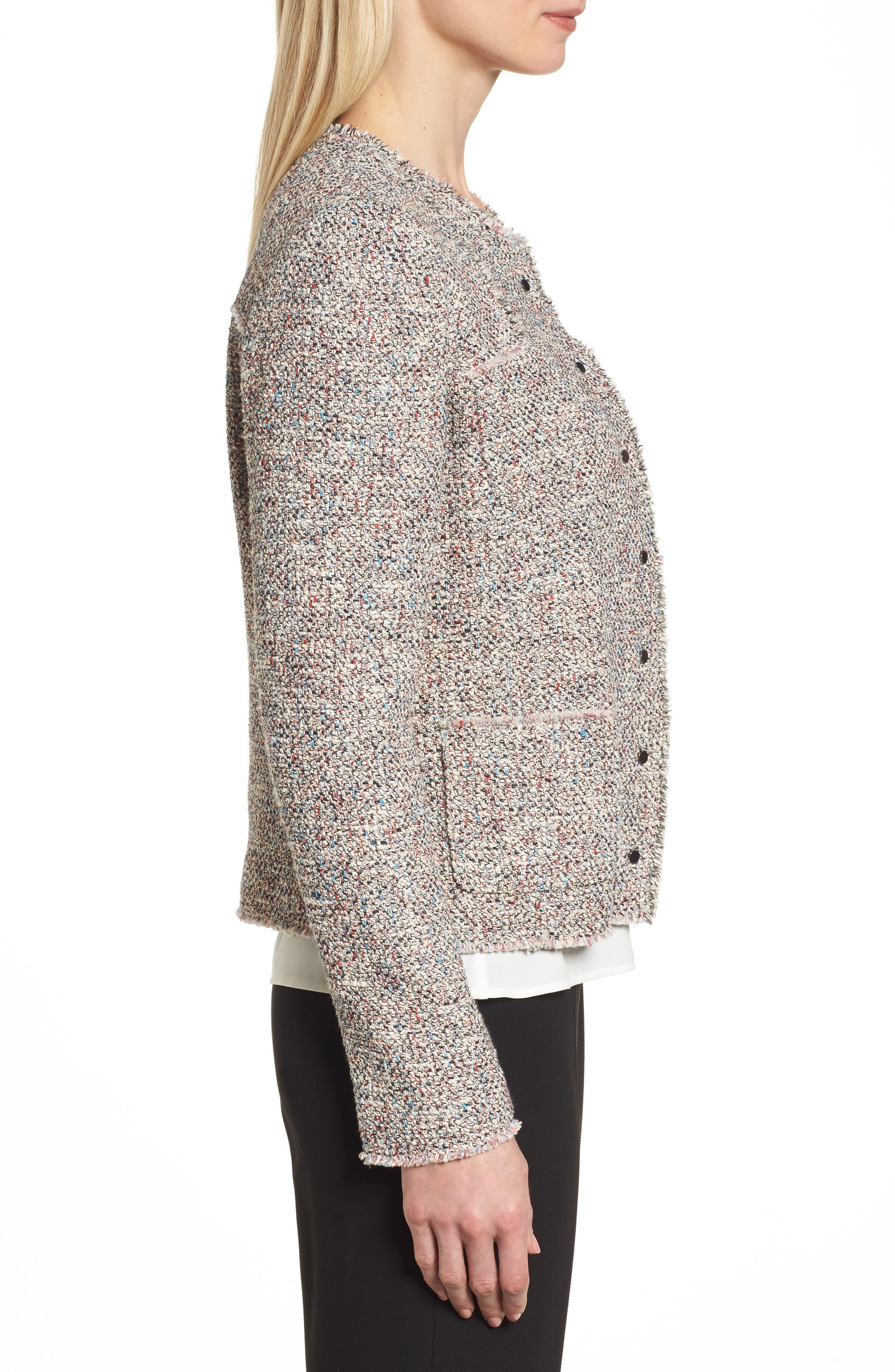 Koralie Tweed Jacket,                             Alternate thumbnail 3, color,                             462