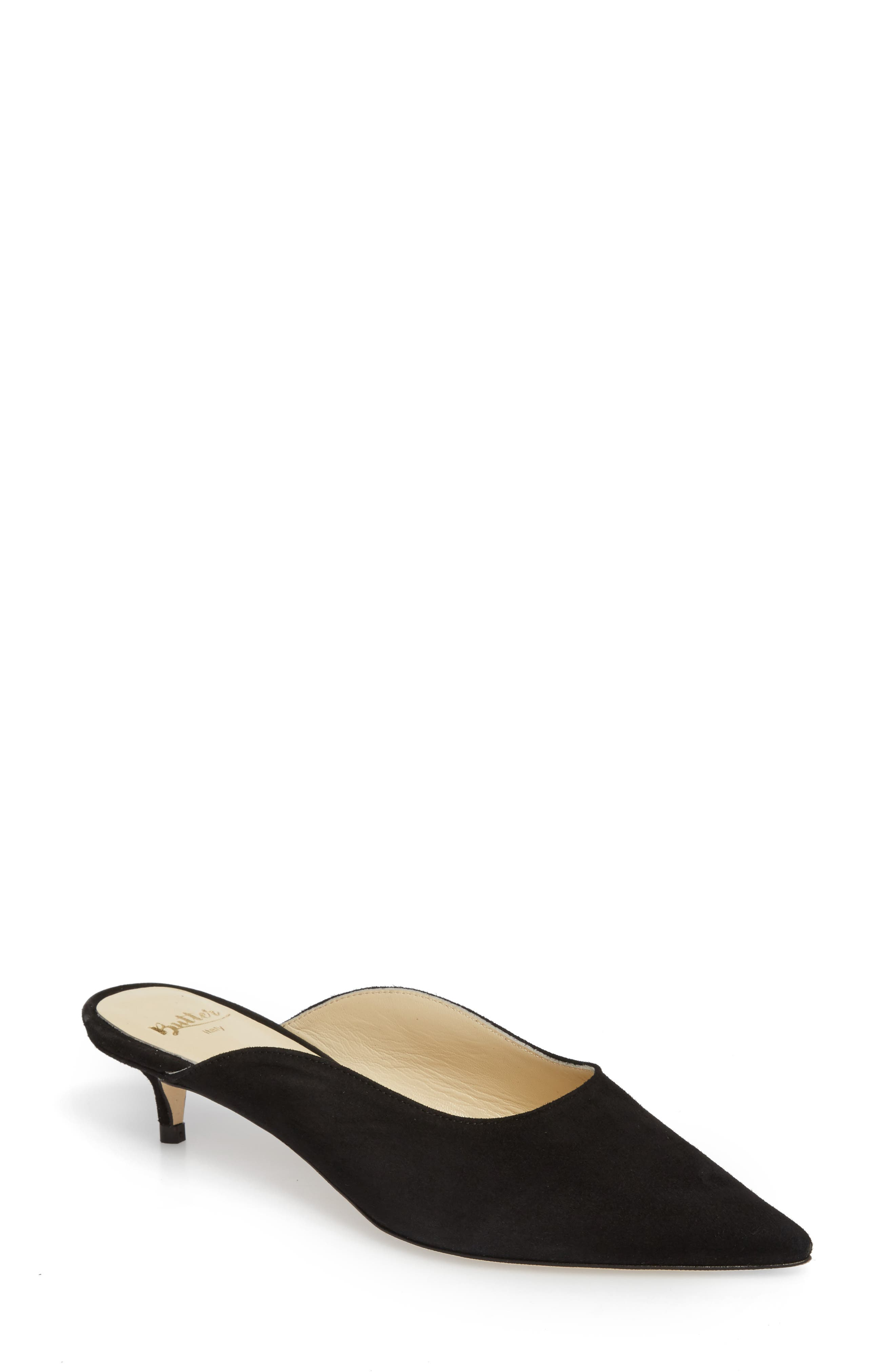 Butter Berta Pointy Toe Mule,                         Main,                         color, 001