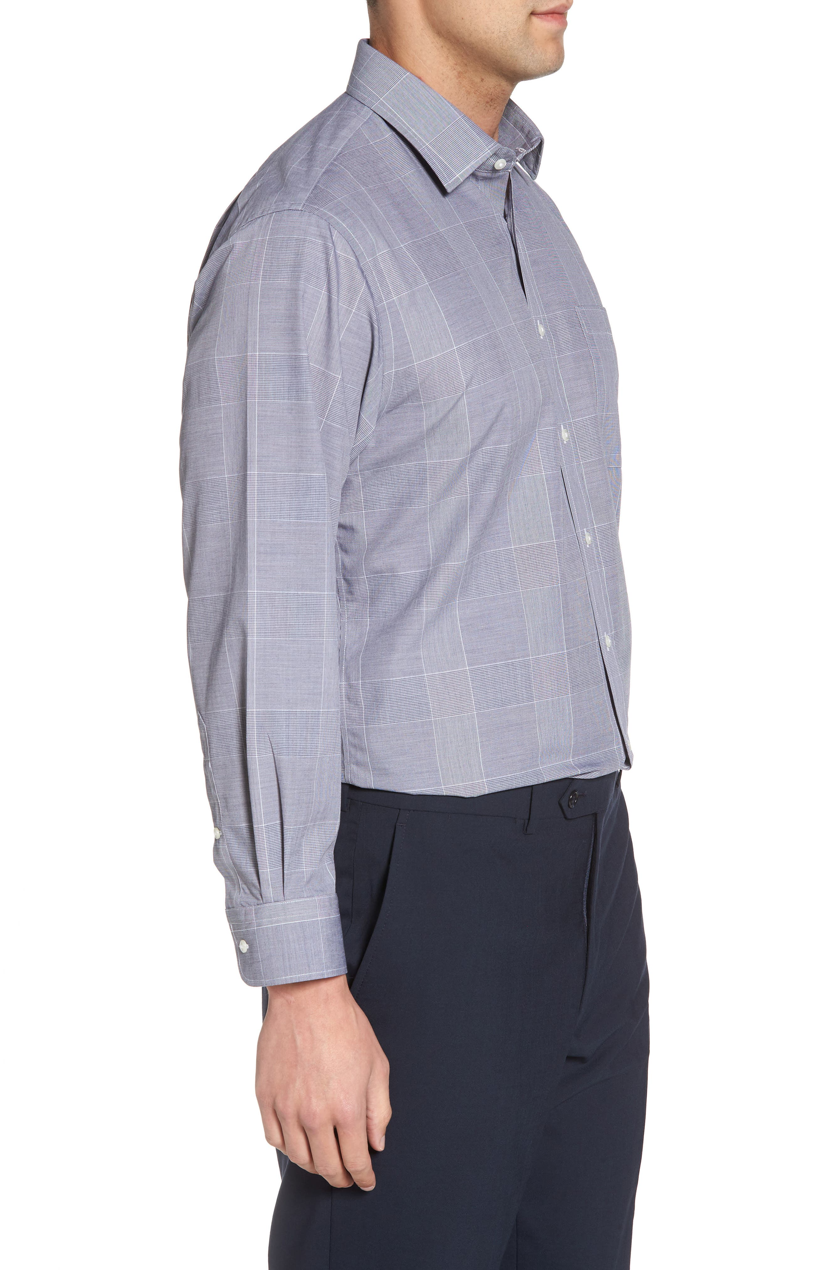 Smartcare<sup>™</sup> Traditional Fit Plaid Dress Shirt,                             Alternate thumbnail 4, color,                             401