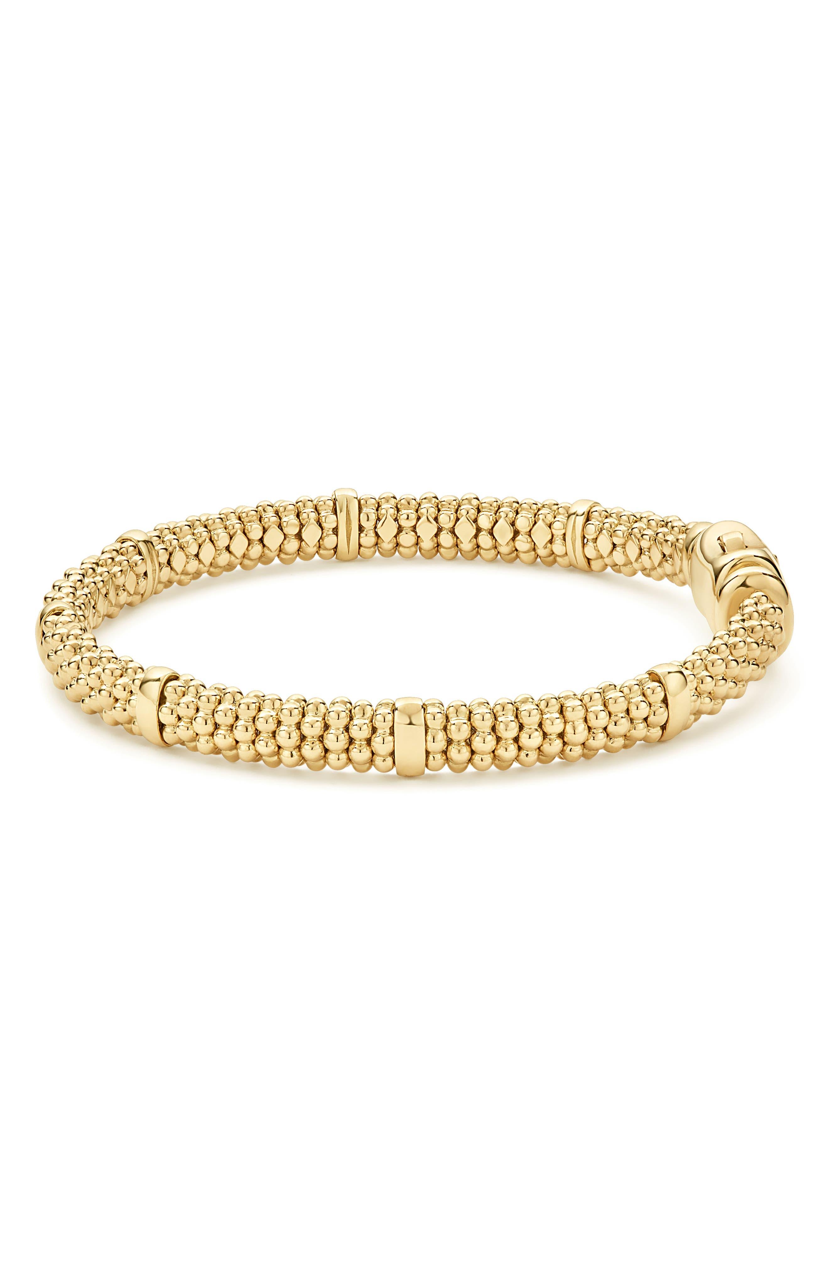 Caviar Rope Bracelet,                             Alternate thumbnail 7, color,                             GOLD