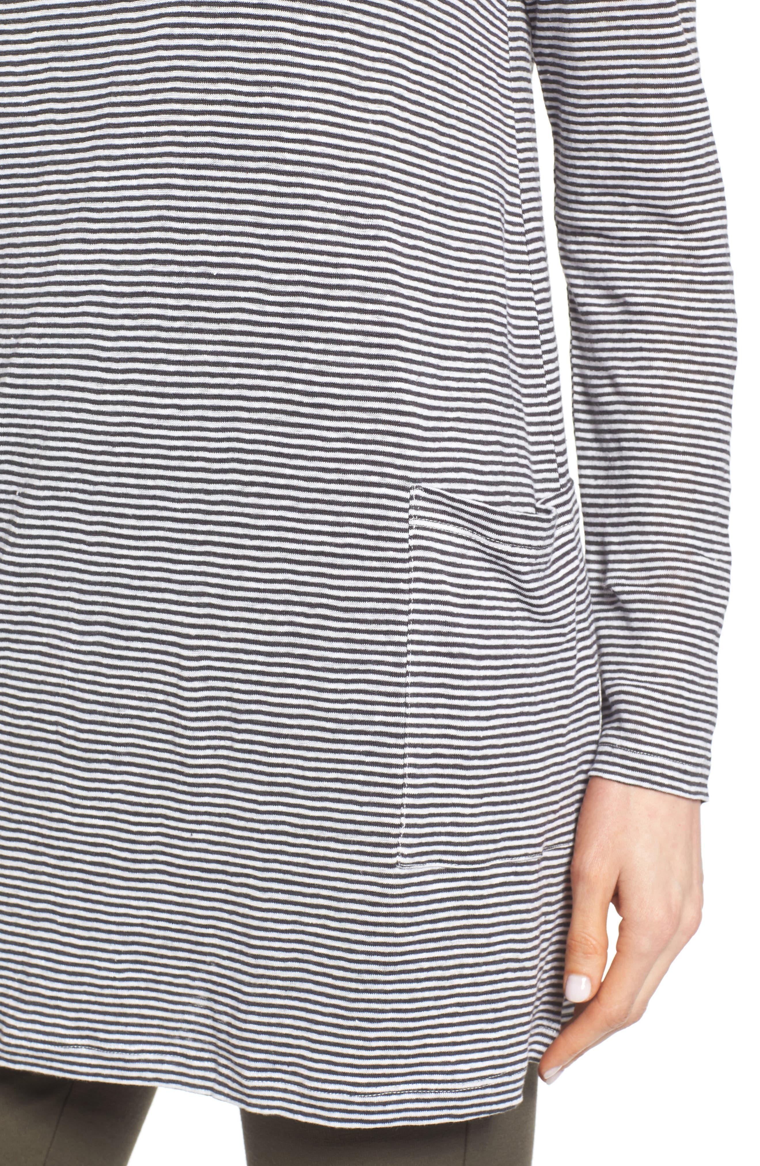 Organic Linen Knit Tunic,                             Alternate thumbnail 4, color,                             141