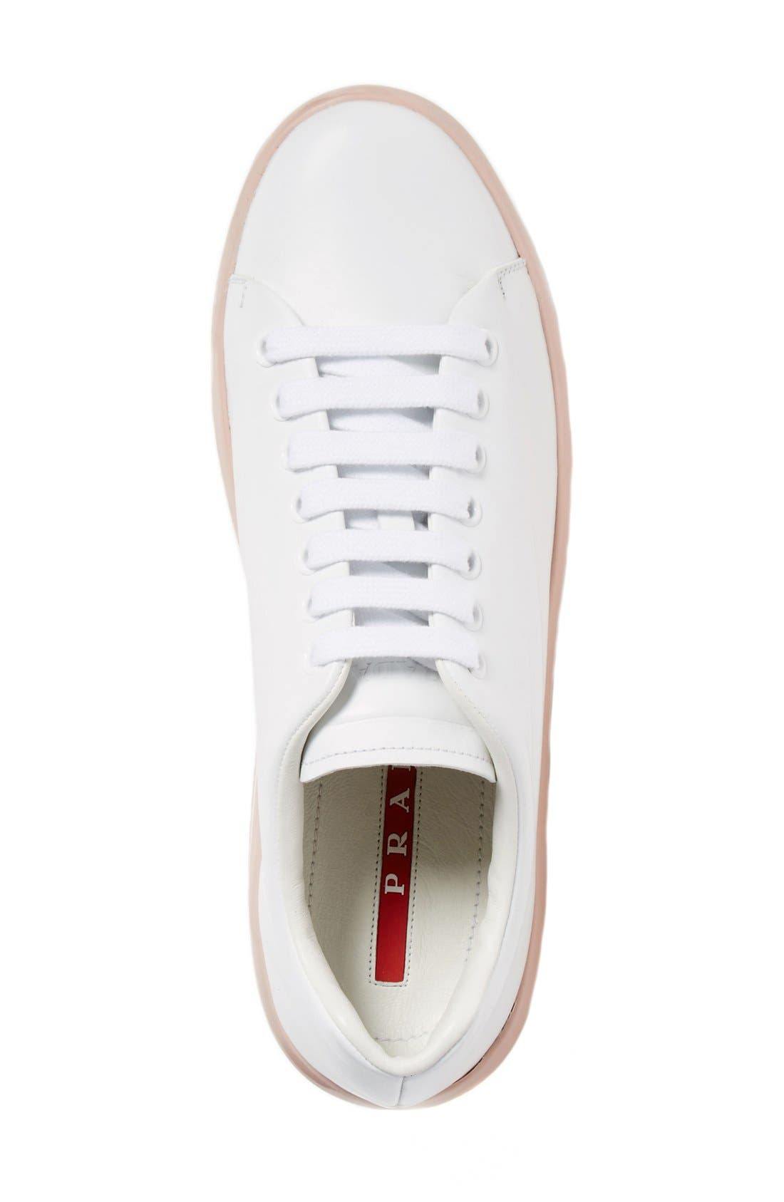 Platform Lace-Up Sneaker,                             Alternate thumbnail 3, color,                             100