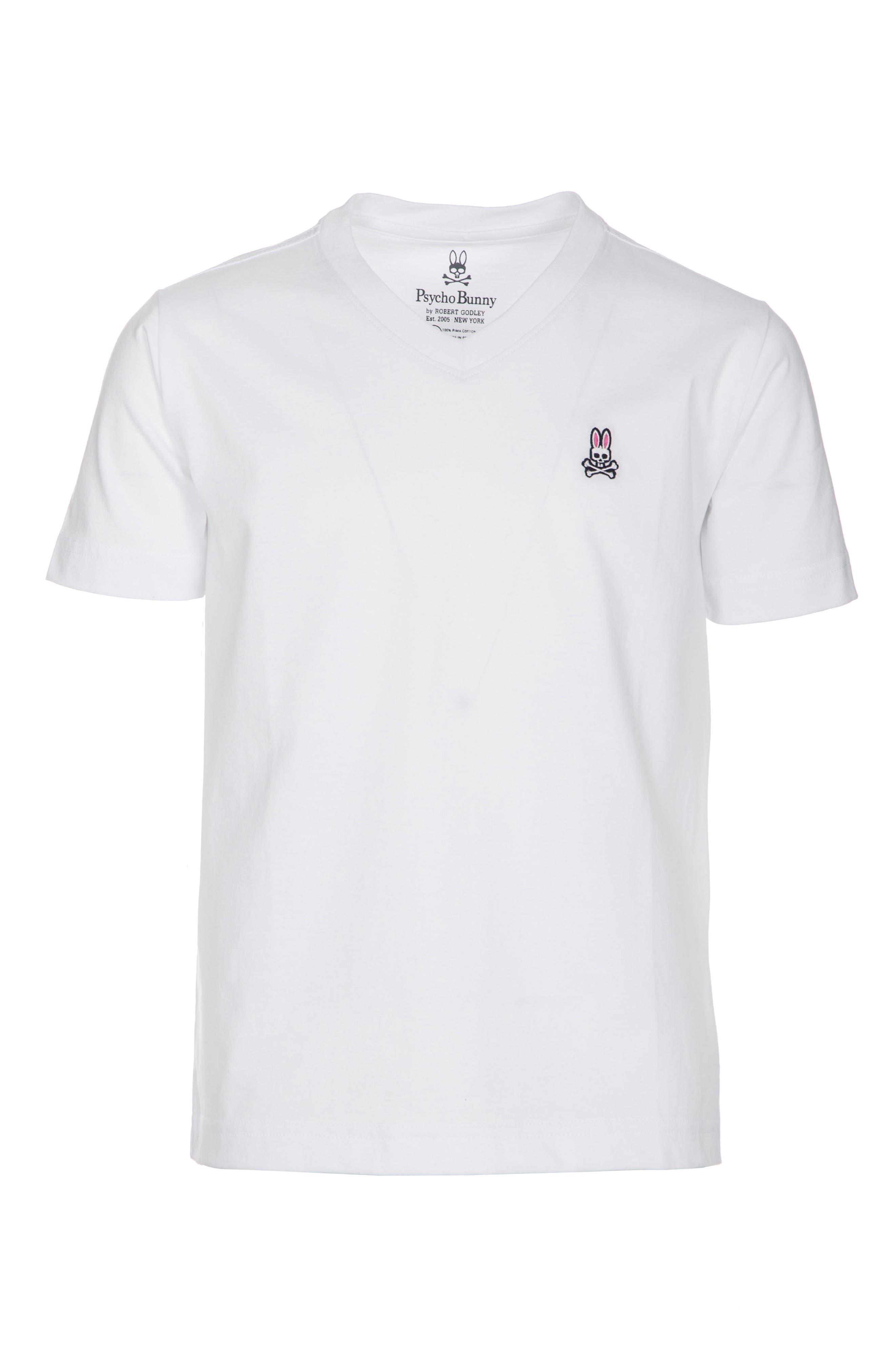V-Neck T-Shirt, Main, color, WHITE