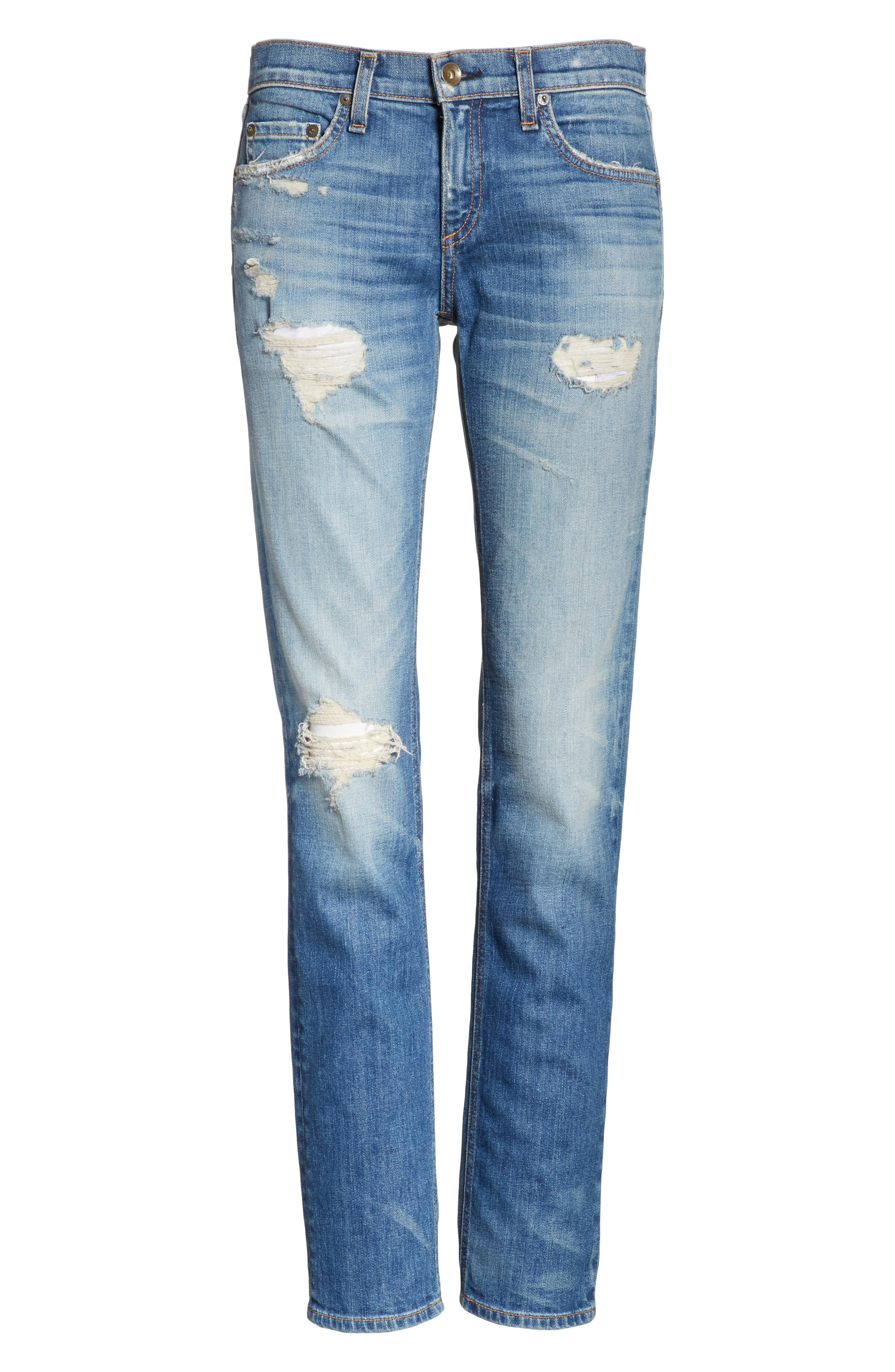 Dre Slim Boyfriend Jeans,                             Alternate thumbnail 6, color,                             420