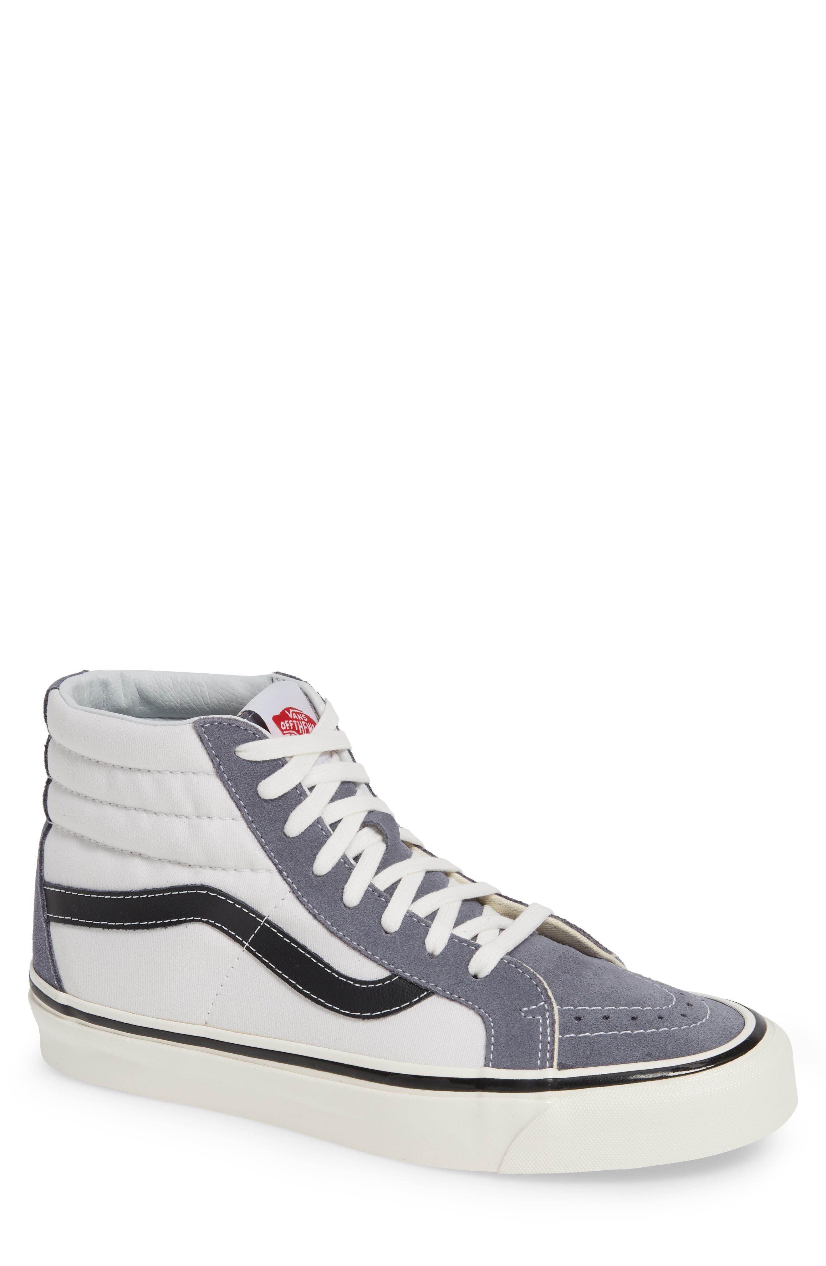 UA Sk8-Hi 38 DX Sneaker,                             Main thumbnail 1, color,                             DARK GREY/ WHITE