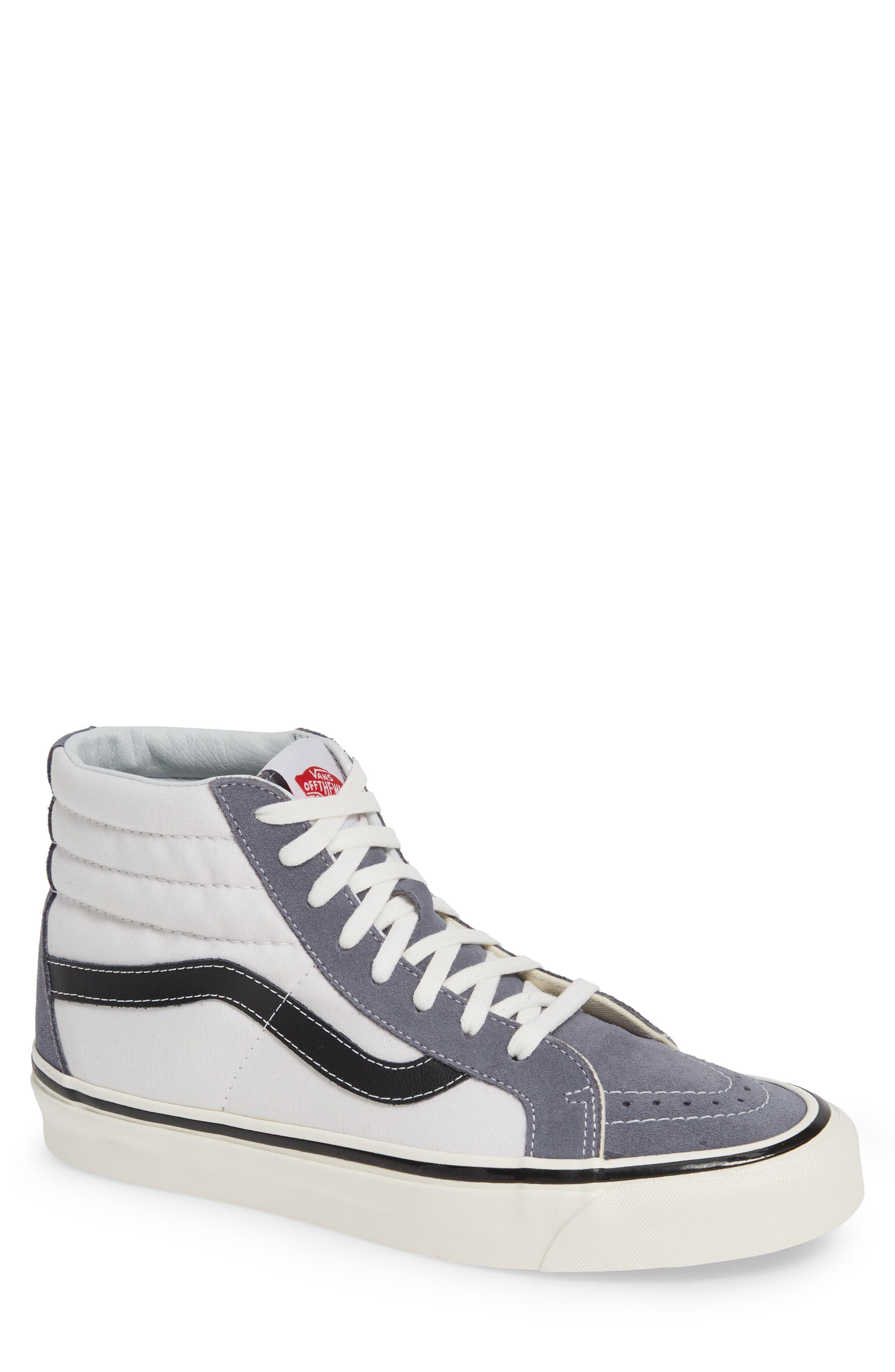 UA Sk8-Hi 38 DX Sneaker,                         Main,                         color, DARK GREY/ WHITE