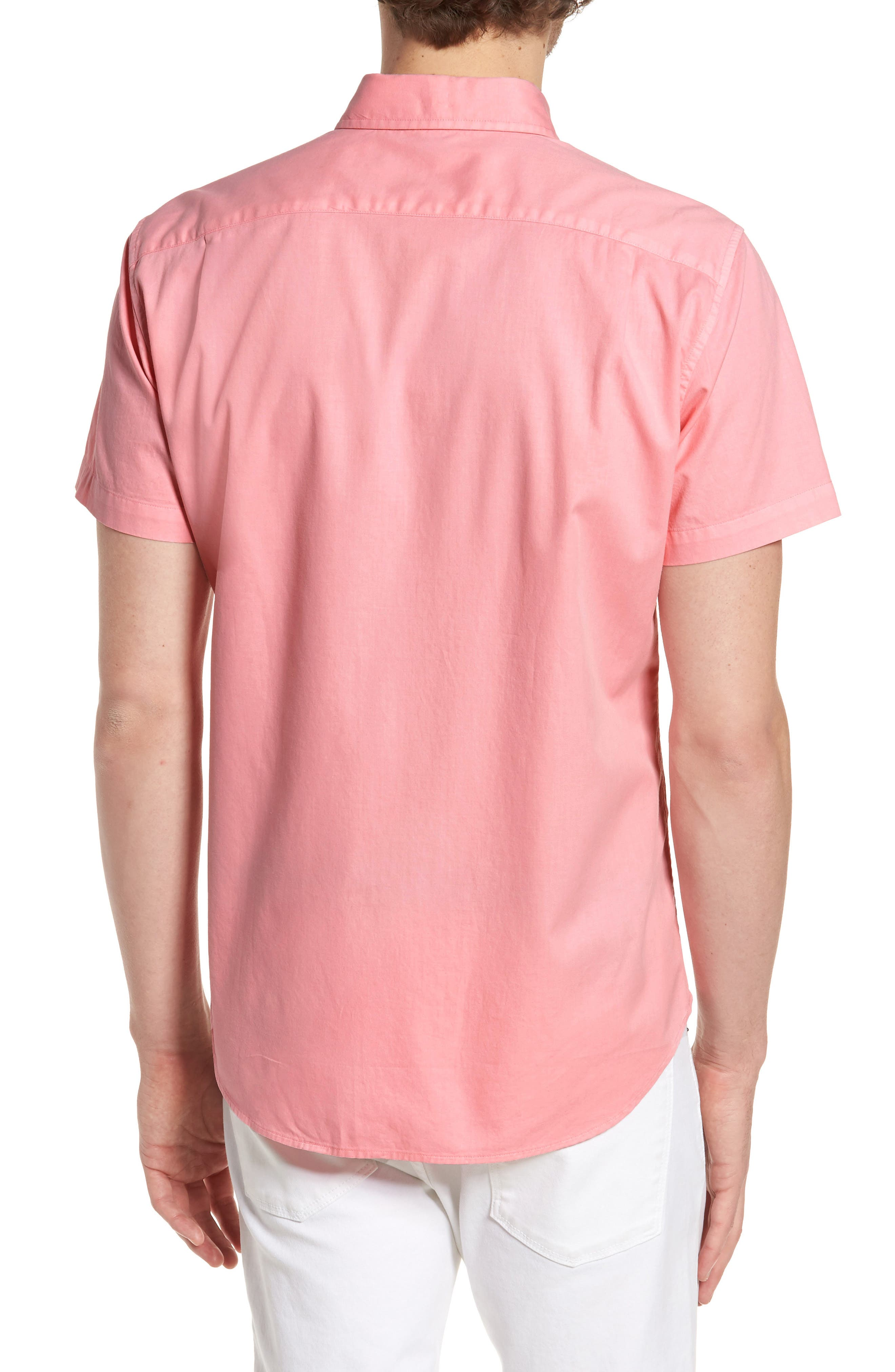 Slim Fit Short Sleeve Sport Shirt,                             Alternate thumbnail 2, color,                             650