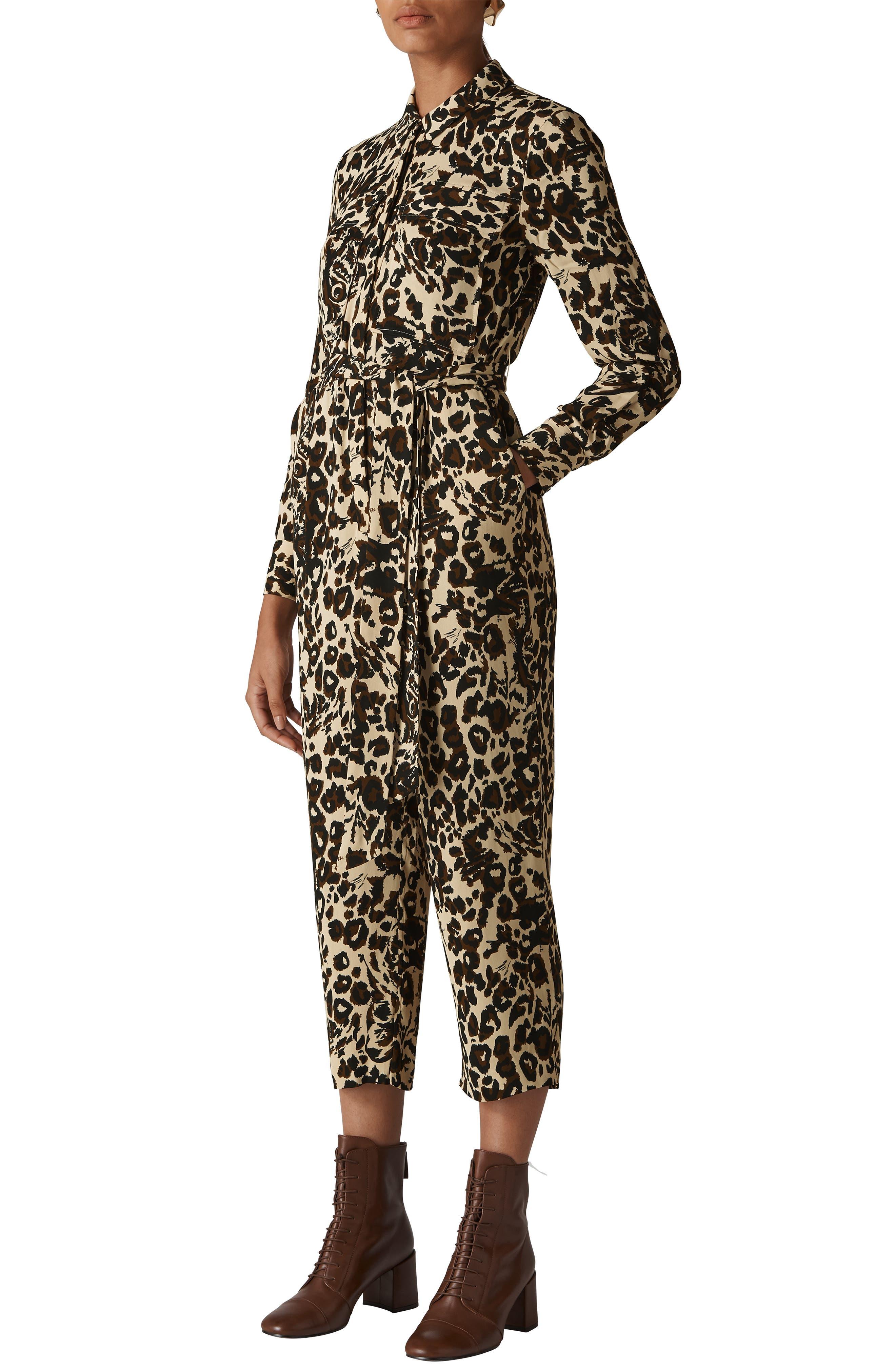 WHISTLES Jungle Cat Utility Jumpsuit, Main, color, 200