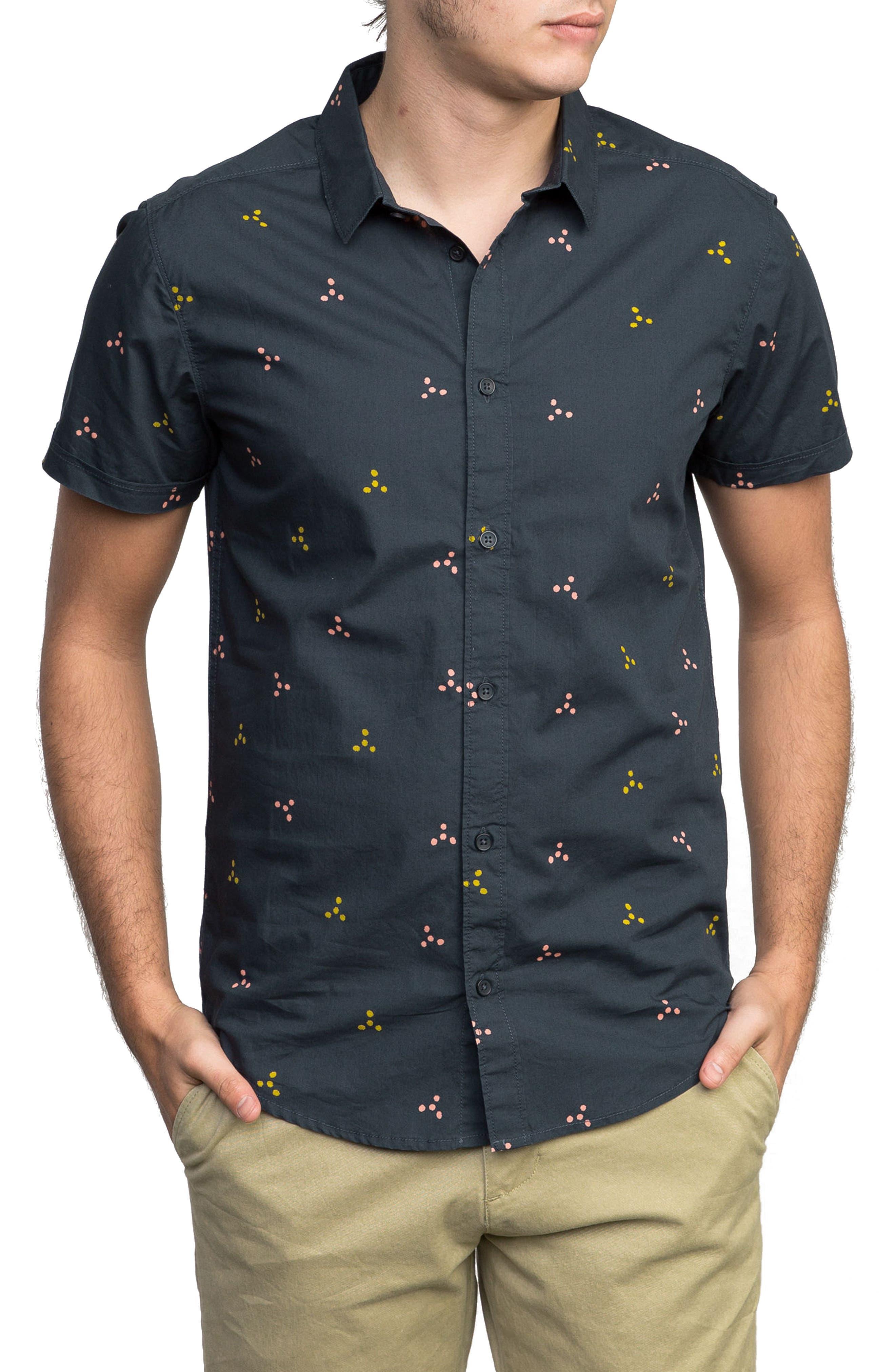 Tridot Woven Shirt,                             Main thumbnail 1, color,                             020