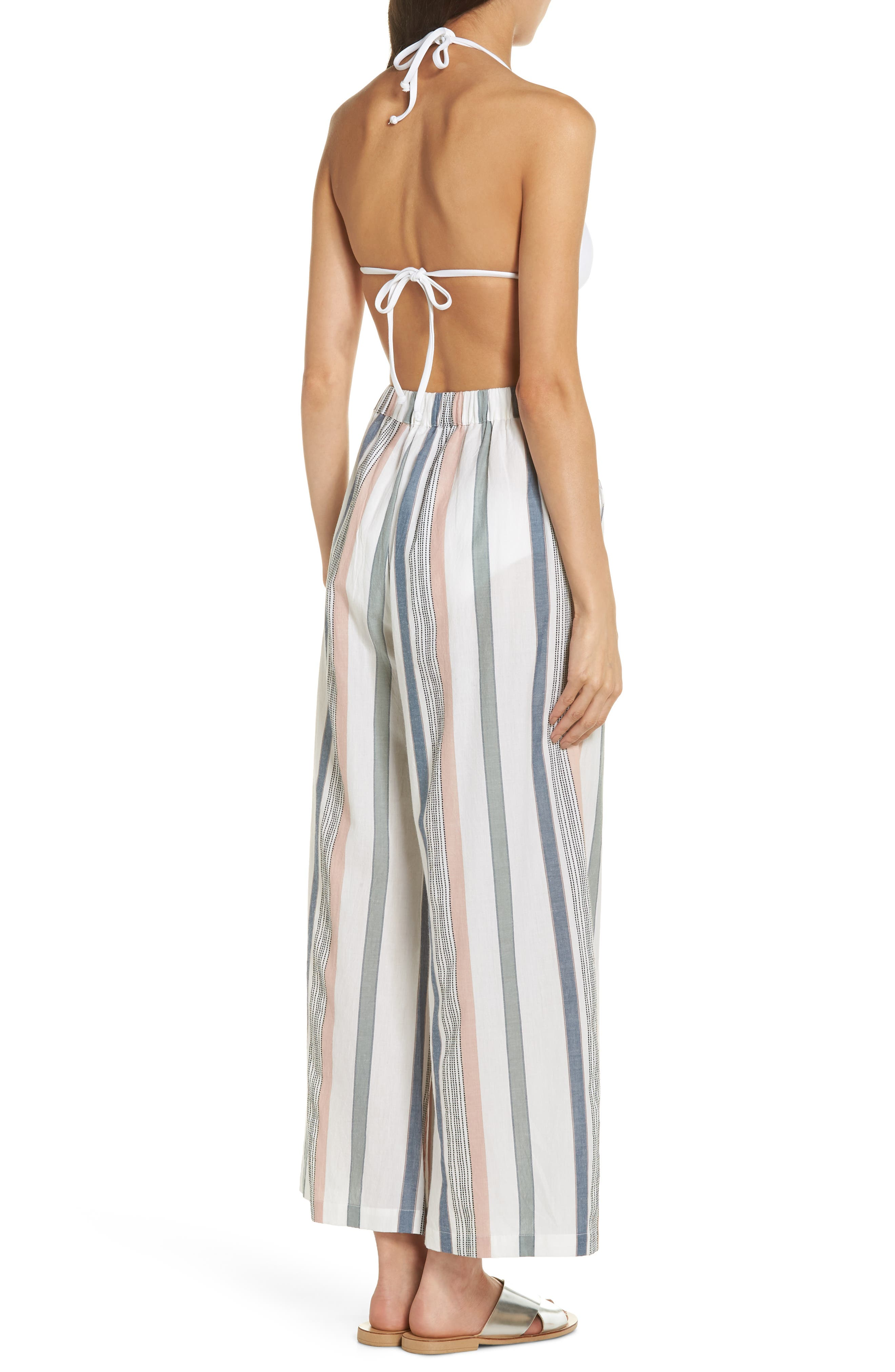 Hannah Cover-Up Pants,                             Alternate thumbnail 2, color,                             MEADOW GREEN STRIPE