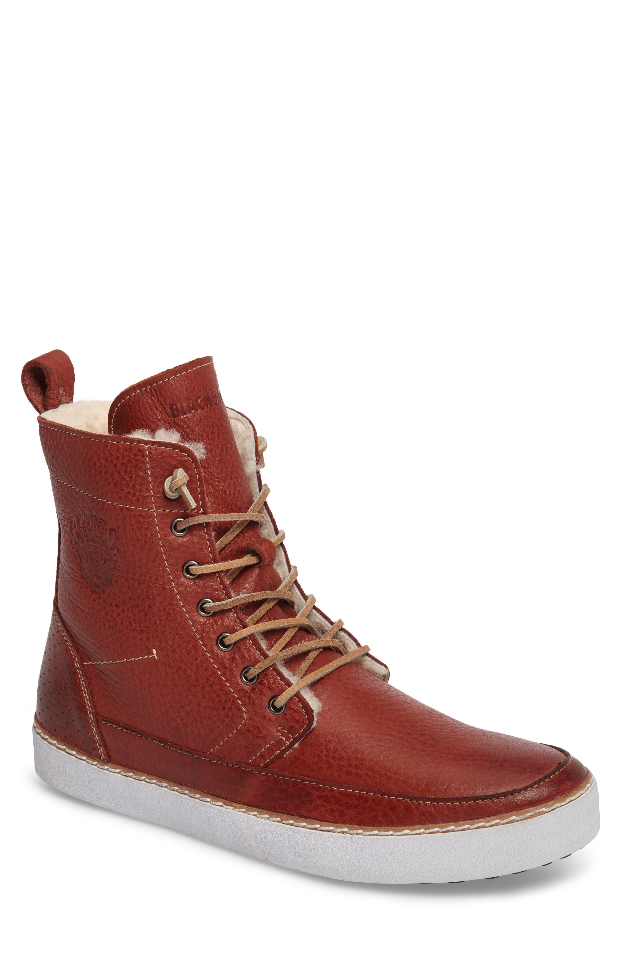BLACKSTONE 'AM 32' Shearling Lined Boot, Main, color, 200