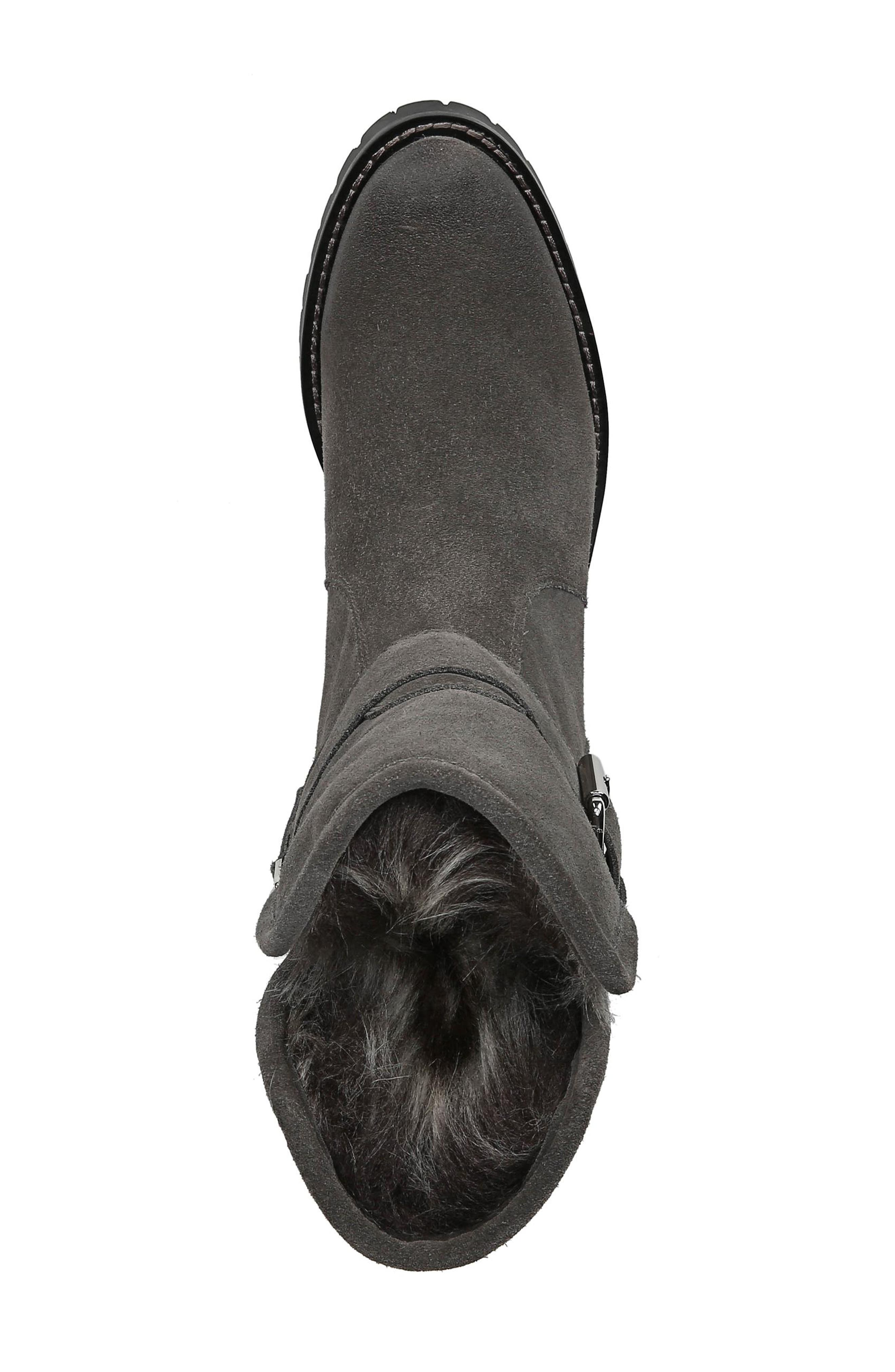 Jeanie Boot,                             Alternate thumbnail 5, color,                             STEEL GREY SUEDE