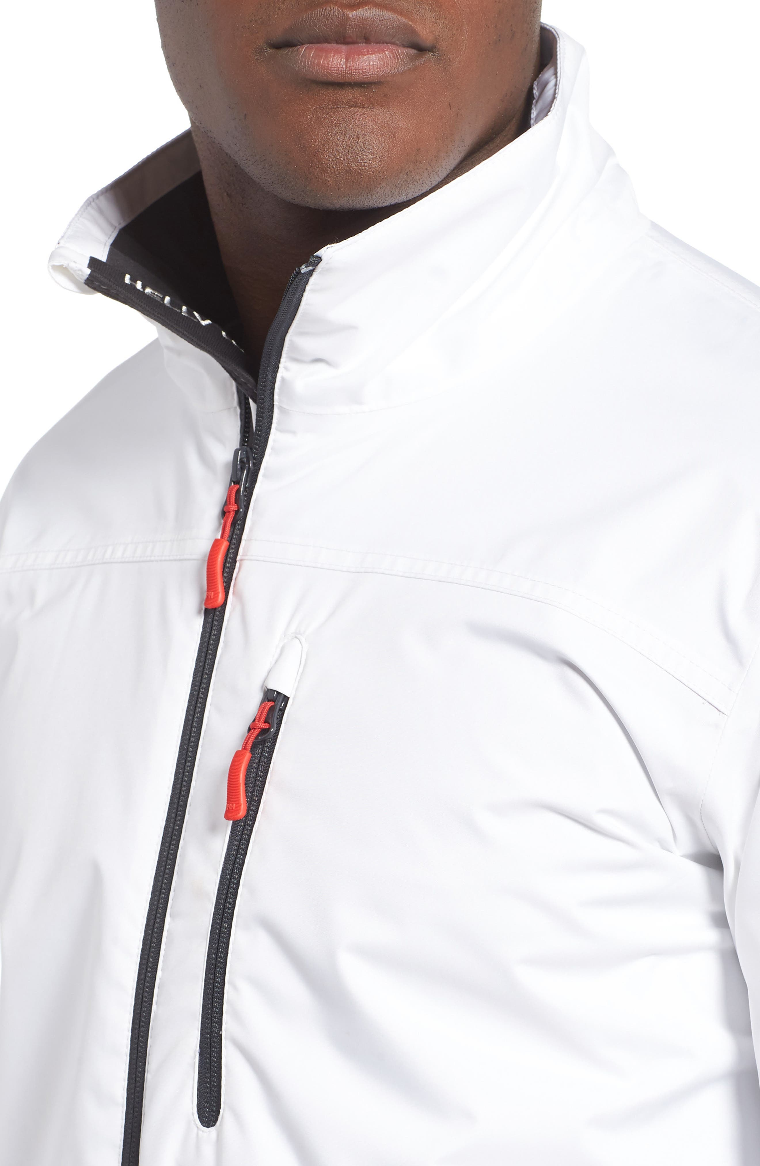 'Crew' Waterproof & Windproof Jacket,                             Alternate thumbnail 4, color,                             BRIGHT WHITE