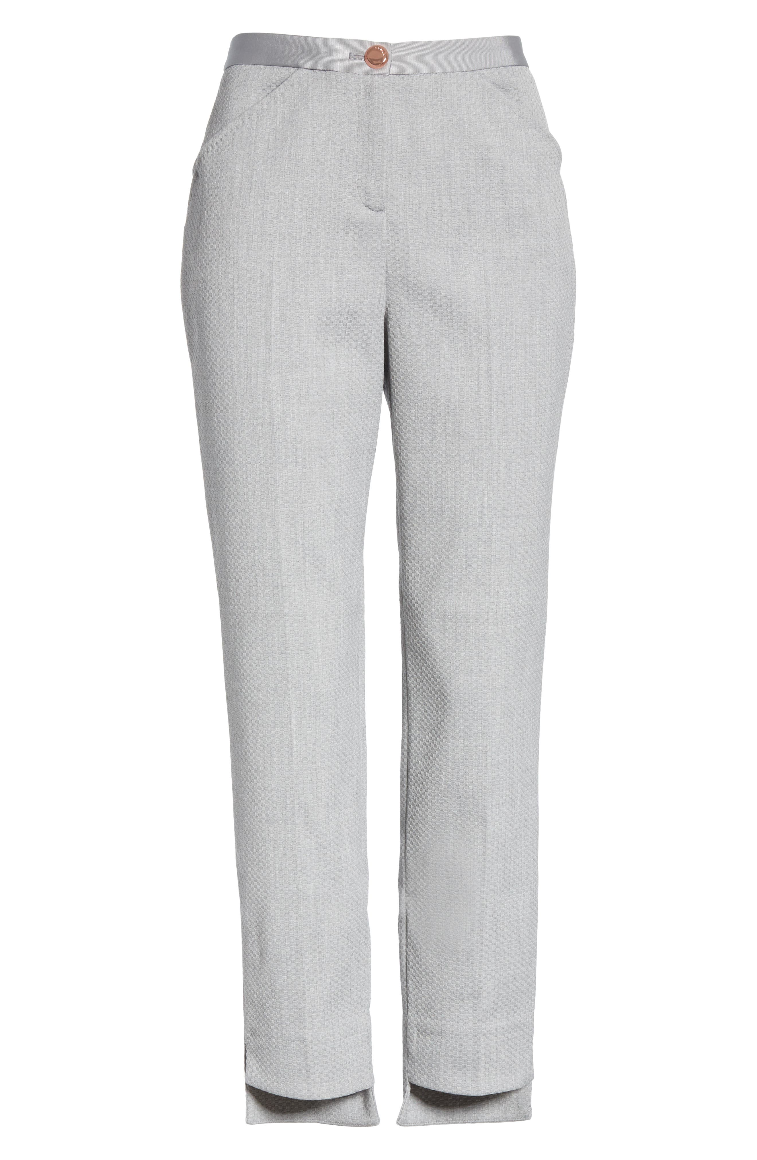 Ted Working Title Daizit Skinny Crop Pants,                             Alternate thumbnail 6, color,                             GREY