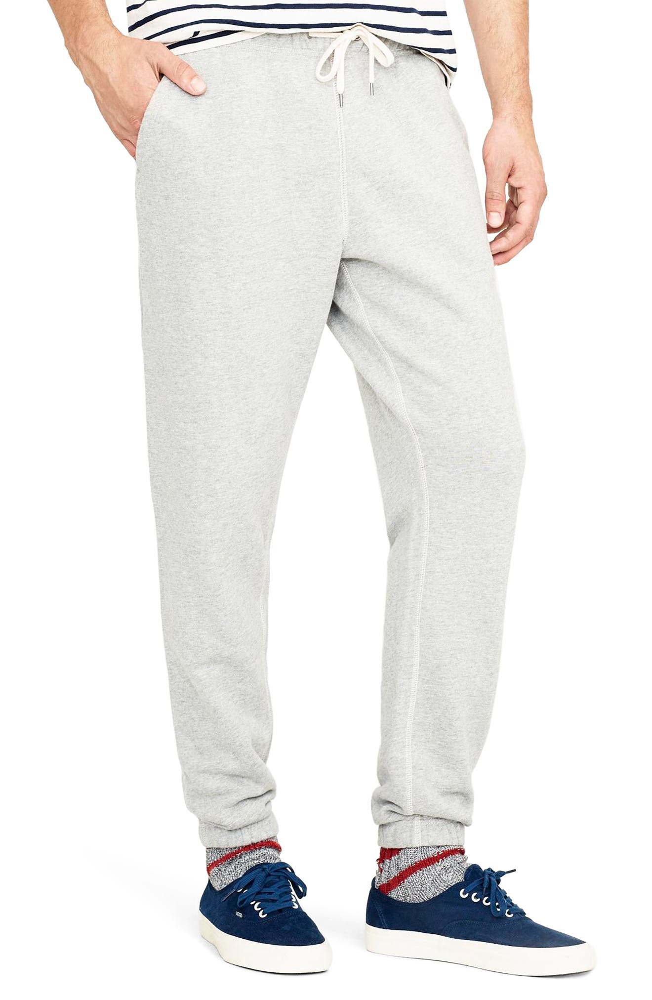 French Terry Sweatpants,                             Alternate thumbnail 3, color,                             HEATHER GREY