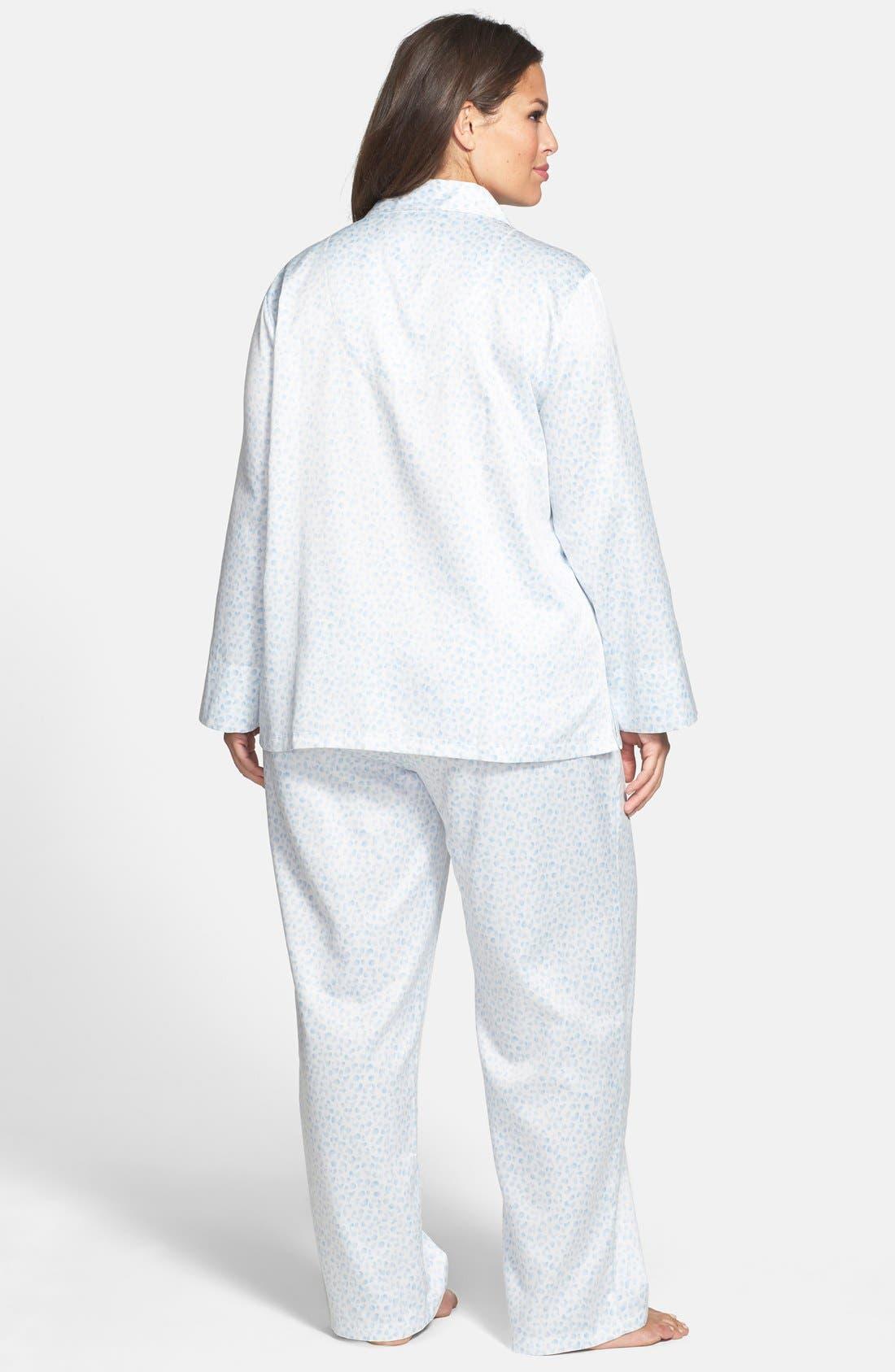 CAROLE HOCHMAN,                             Designs Brushed Back Satin Pajamas,                             Alternate thumbnail 3, color,                             465