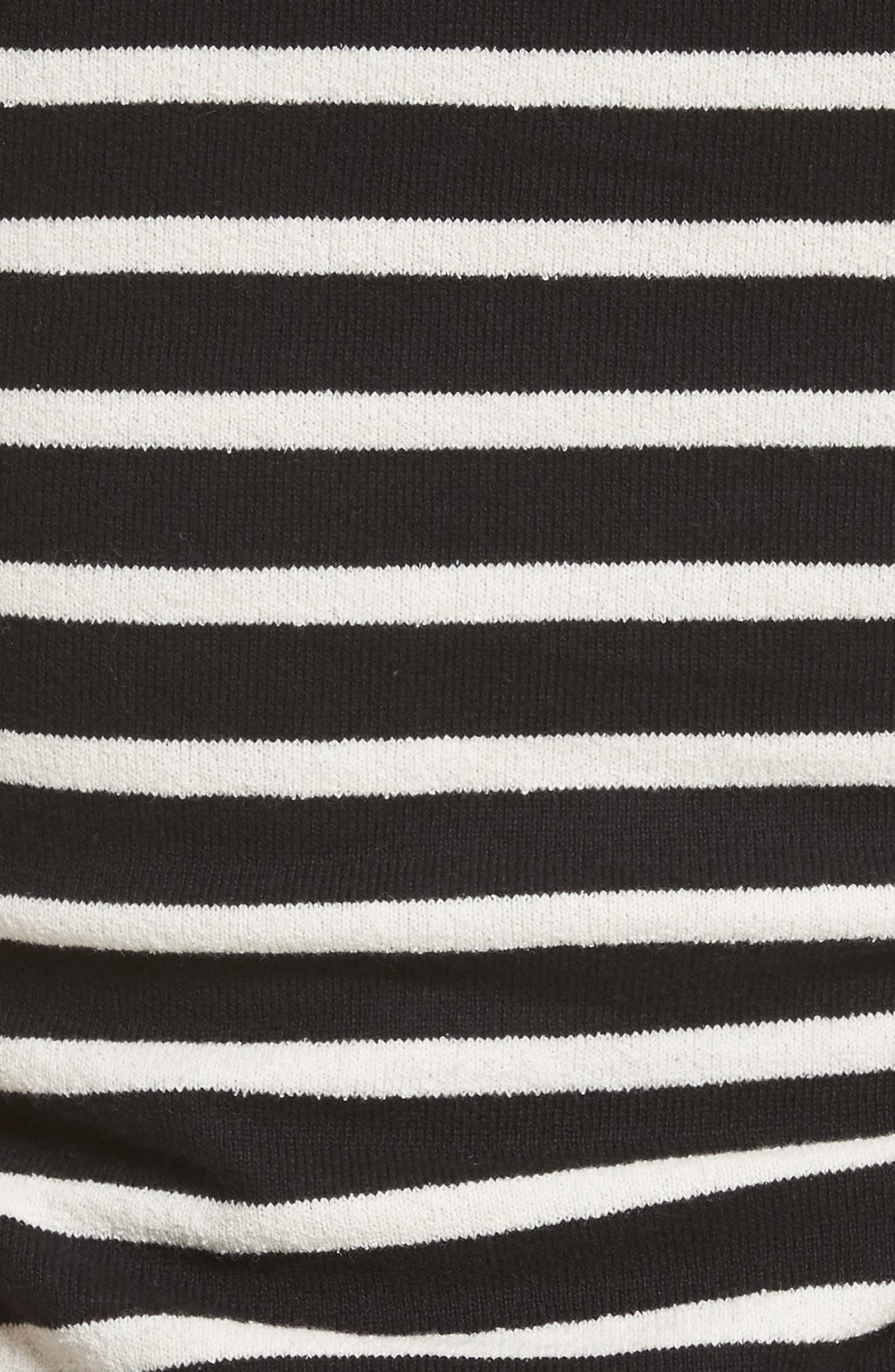 Stripe Jersey Dress,                             Alternate thumbnail 5, color,                             013