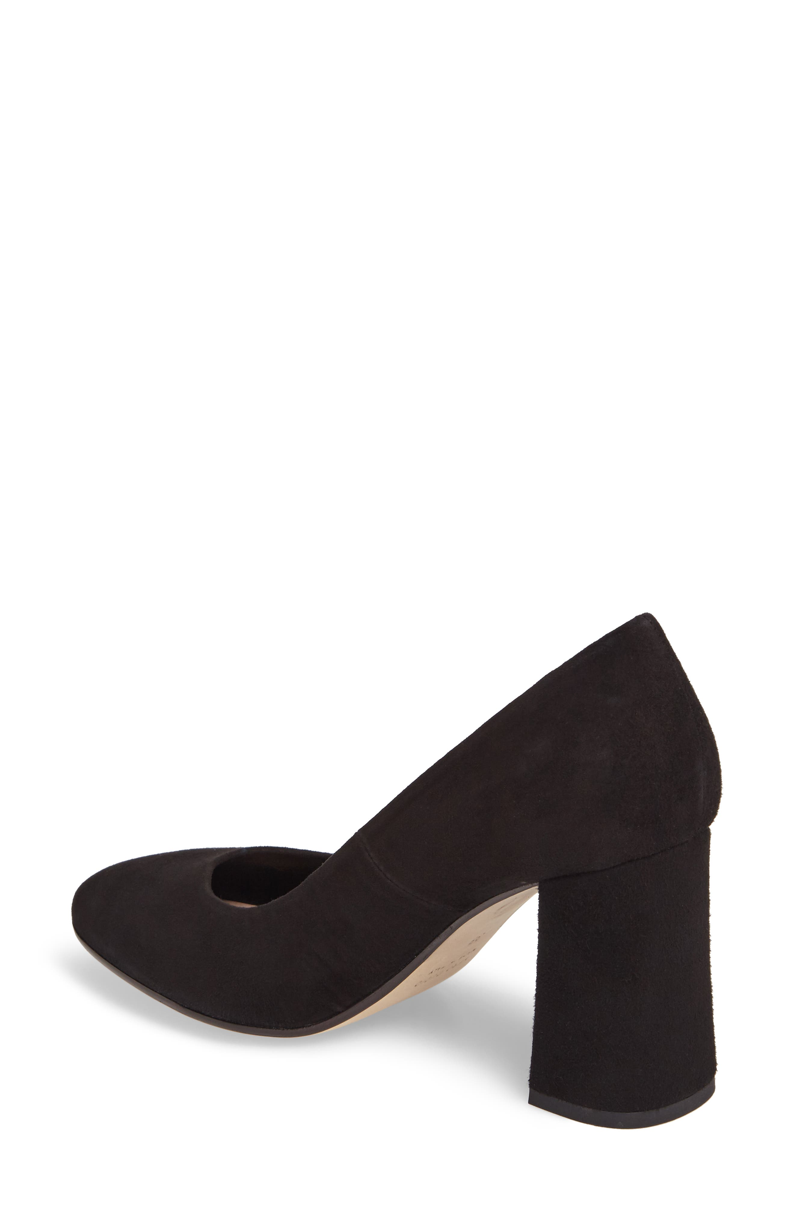 Hanette Pump,                             Alternate thumbnail 2, color,                             BLACK SUEDE