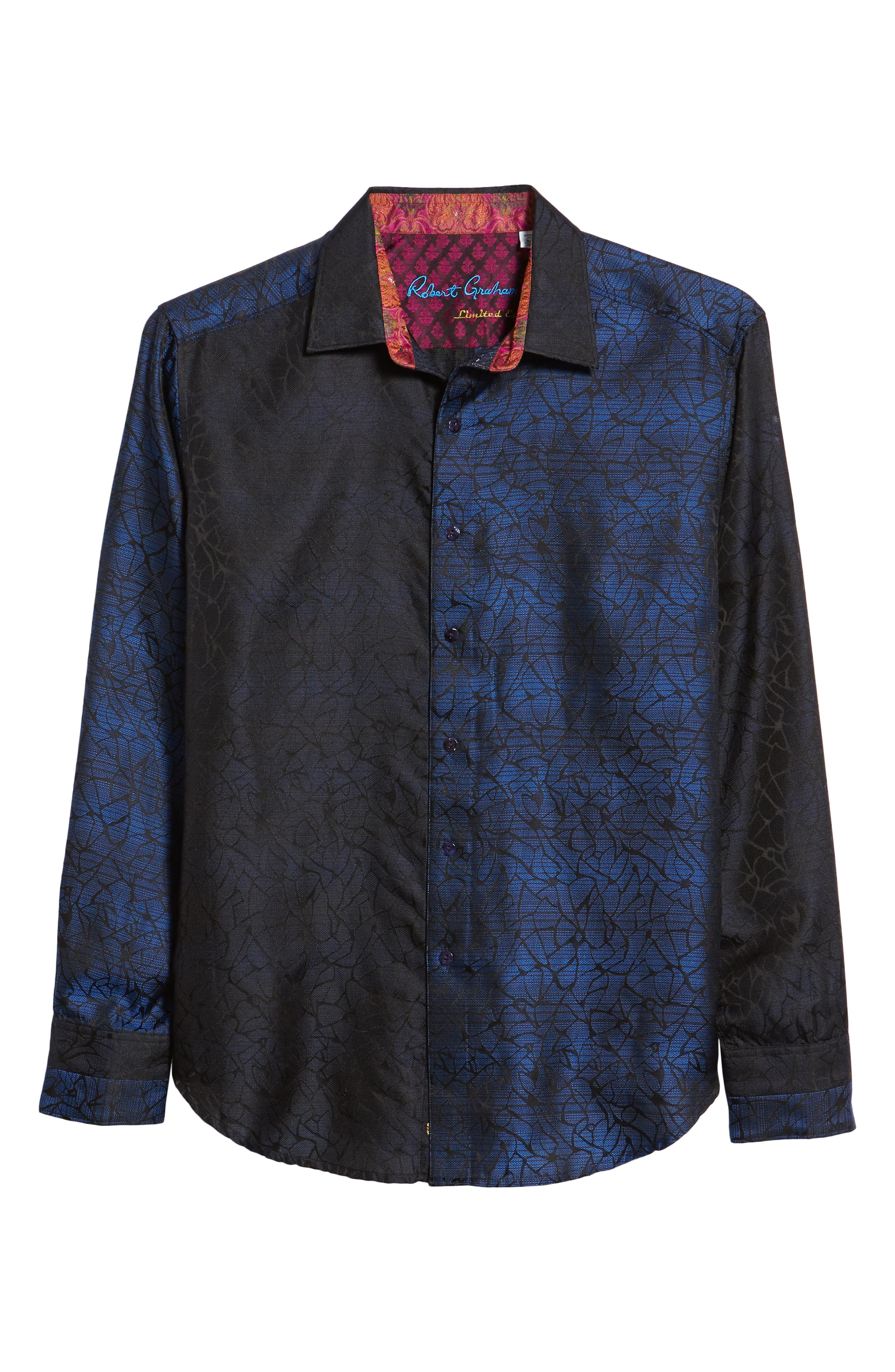 Seibelesk Limited Edition Classic Fit Silk Sport Shirt,                             Alternate thumbnail 5, color,                             NAVY