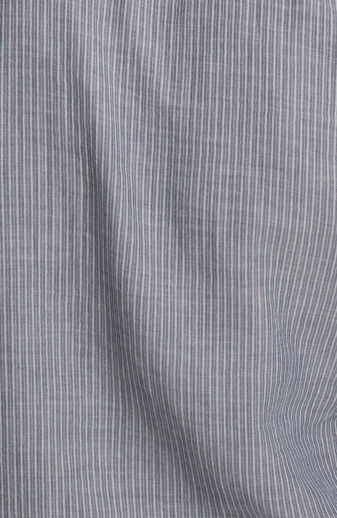 Stripe Herringbone Woven Shirt,                             Alternate thumbnail 3, color,                             400