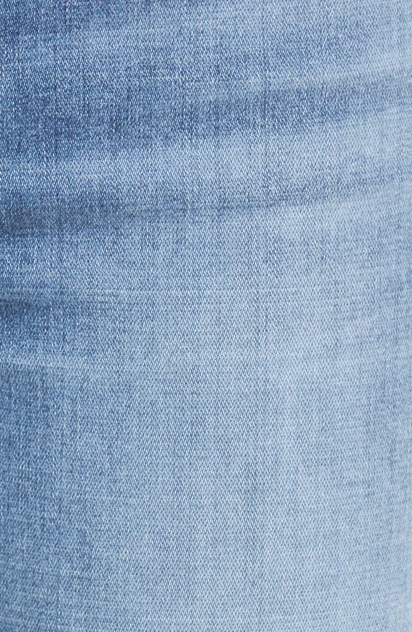 Dylan Split Hem Straight Leg Jeans,                             Alternate thumbnail 5, color,                             400