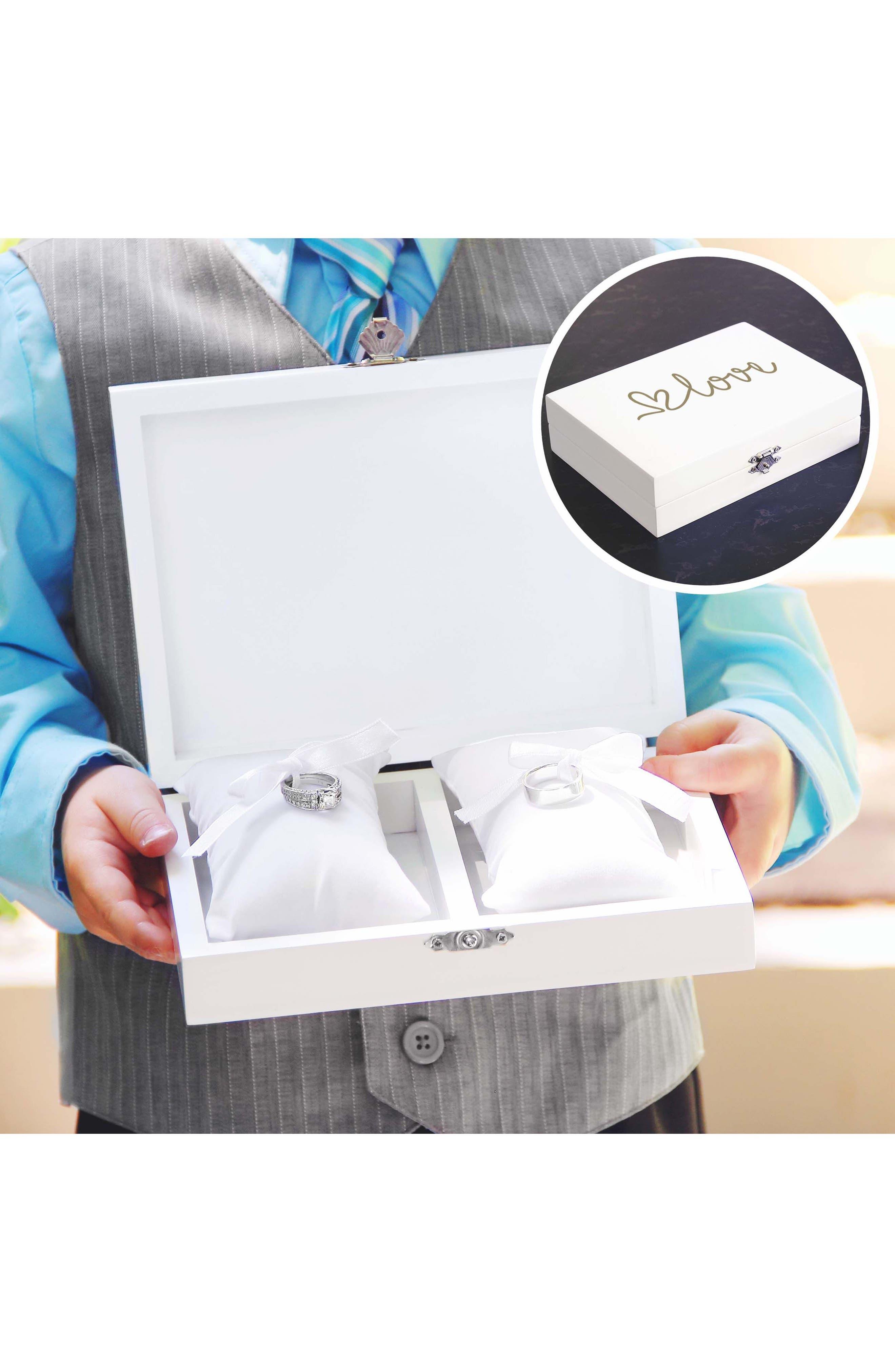 Love Wedding Ring Box,                             Alternate thumbnail 4, color,                             100