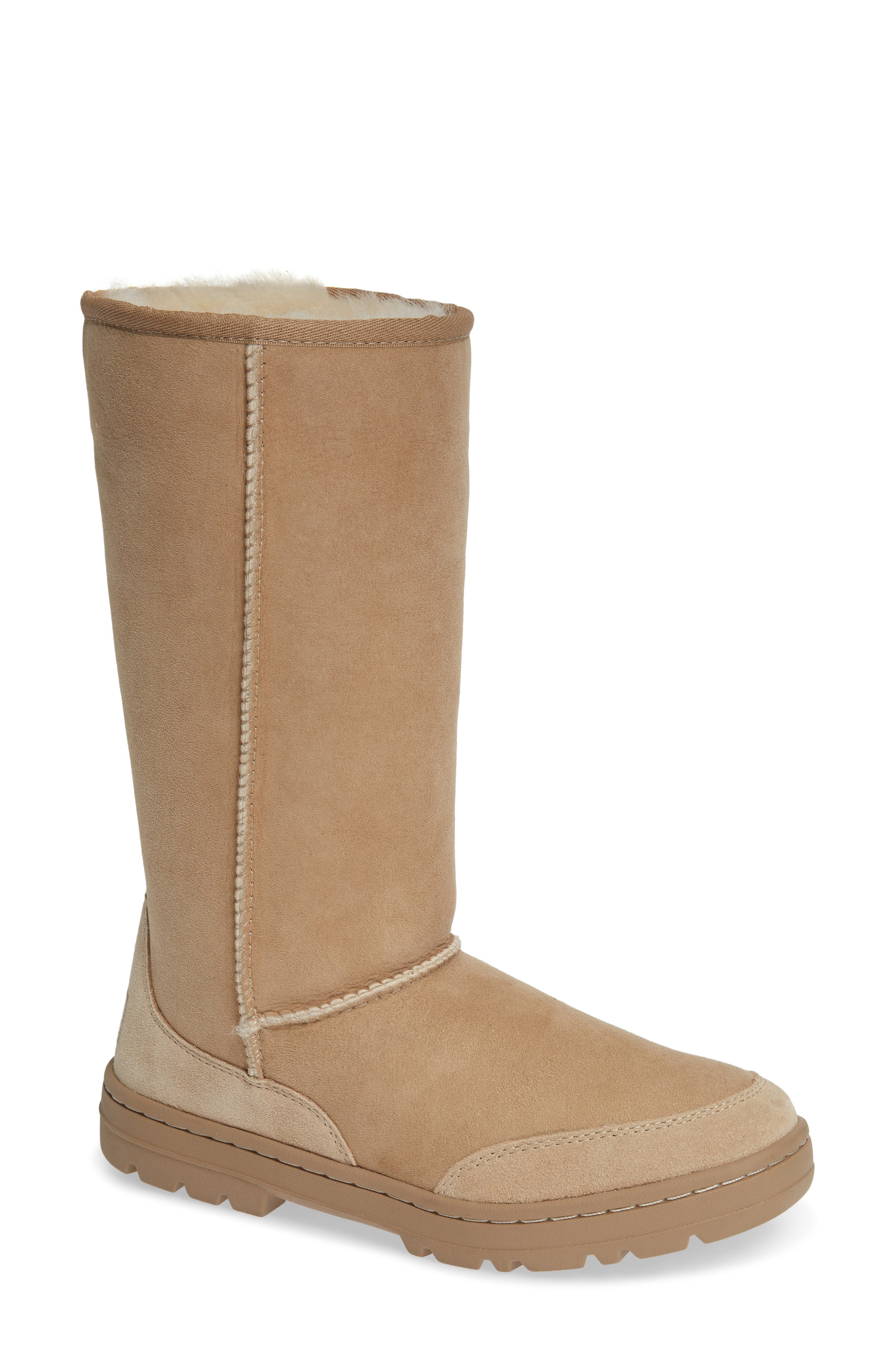 Ugg Ultra Revival Genuine Shearling Tall Boot in Sand