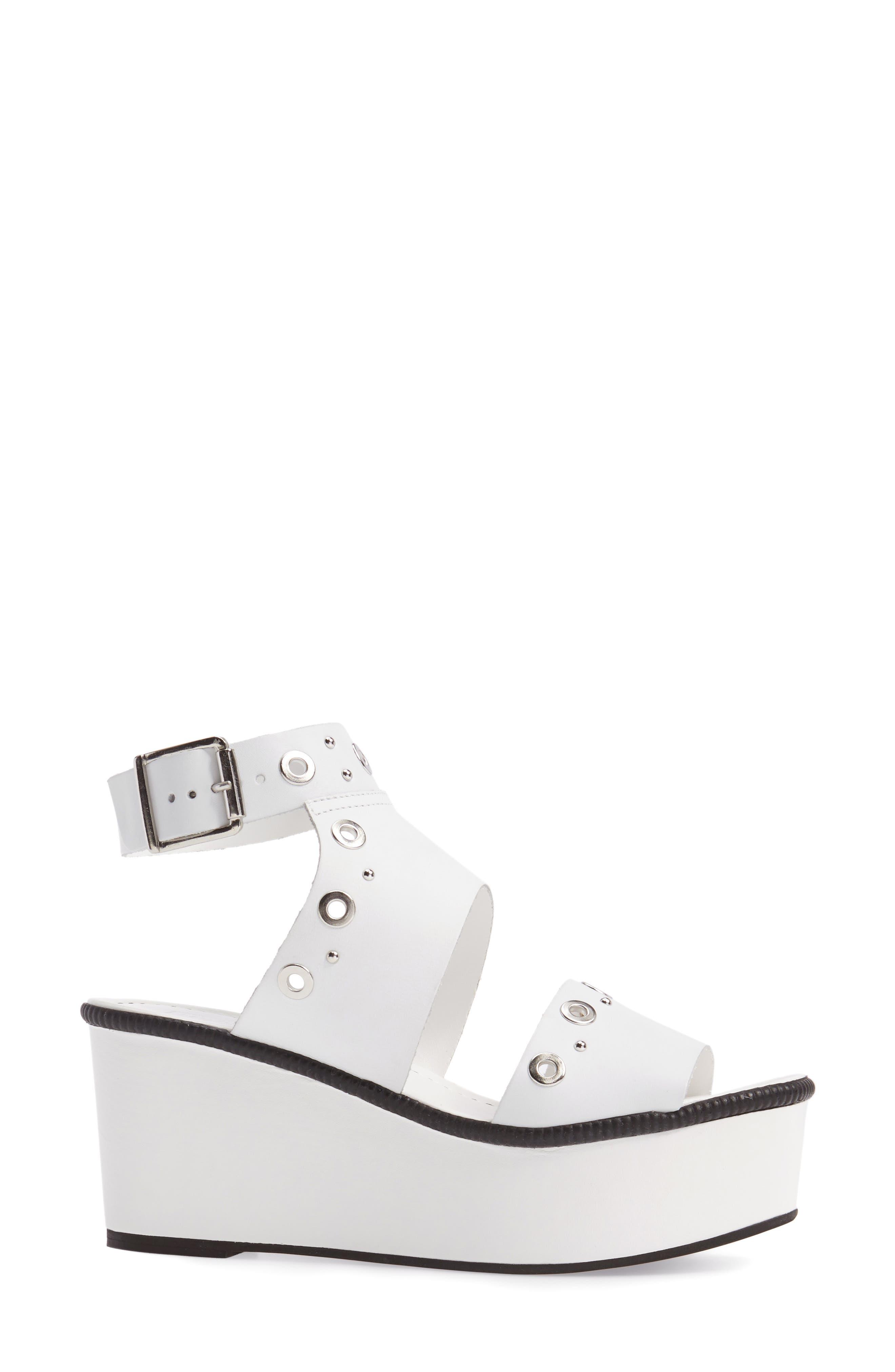 Wizz Grommeted Platform Wedge Sandal,                             Alternate thumbnail 6, color,